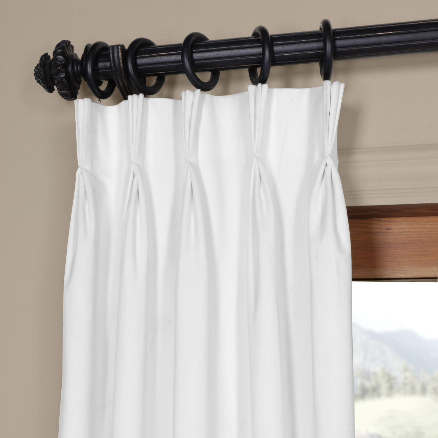 """Vpch 110602 108 Fp Signature Pleated Blackout Velvet Curtain, 25 X 108"""", Off White Pertaining To Most Recently Released Signature Pinch Pleated Blackout Solid Velvet Curtain Panels (View 9 of 20)"""
