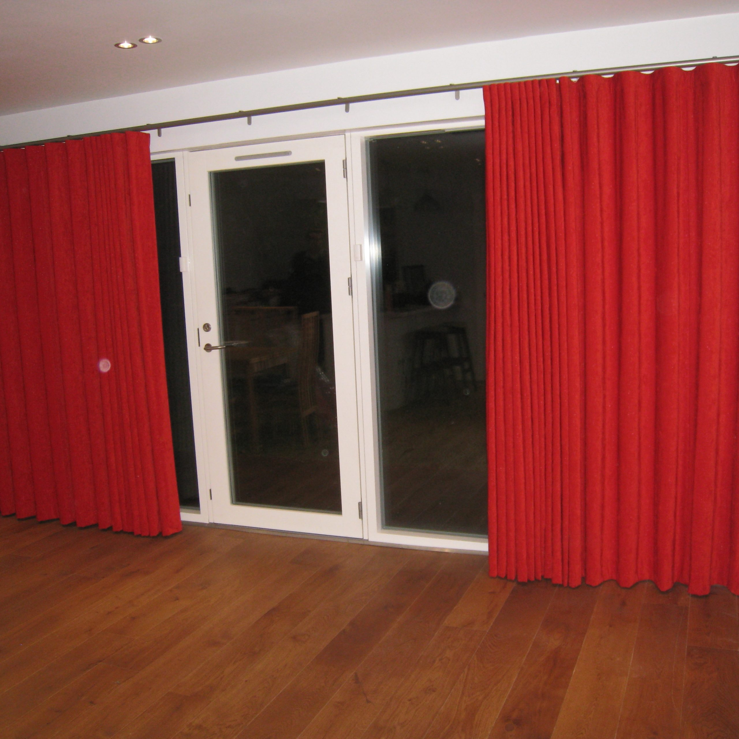 Wave Curtains On Silent Gliss Metropole, Craigleith With Best And Newest Inez Patio Door Window Curtain Panels (View 20 of 20)