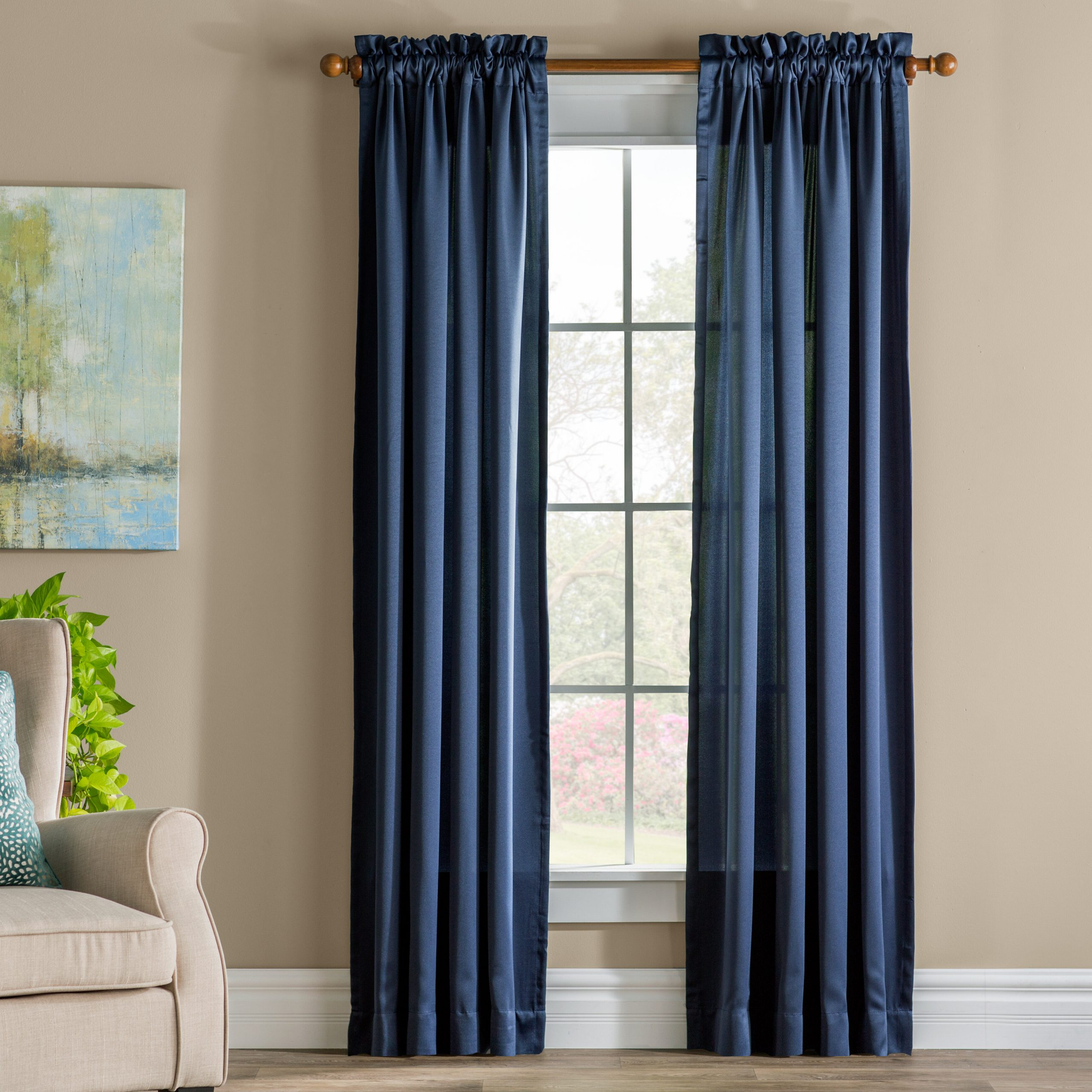 Wayfair With Regard To Widely Used Kaylee Solid Crushed Sheer Window Curtain Pairs (View 19 of 20)
