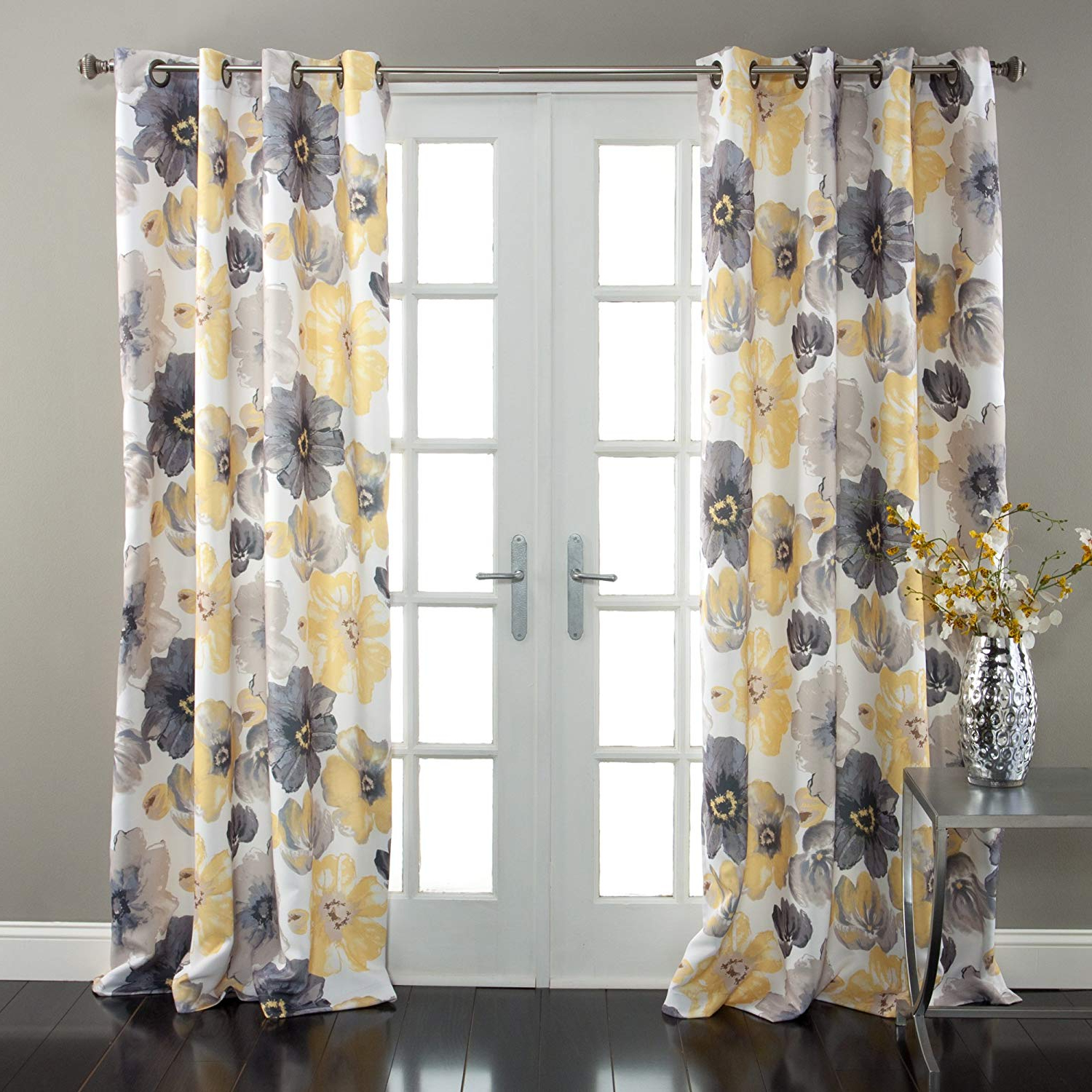 Weeping Flowers Room Darkening Curtain Panel Pairs Regarding Current Beautiful Yellow Mustard Curtains Sale – Recipes With More (View 20 of 20)