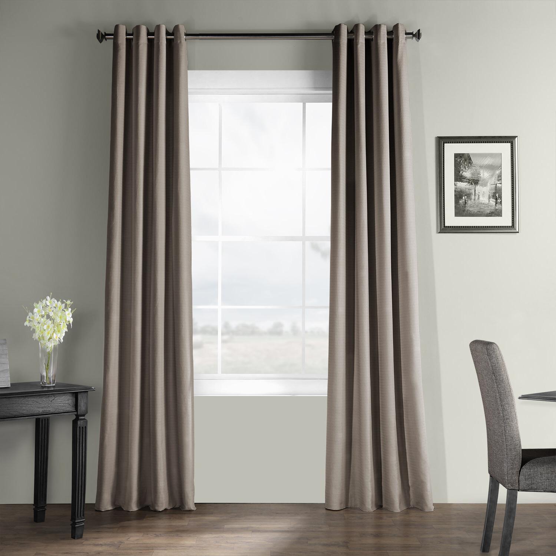 Well Known Adrien Solid Cotton Textured Room Darkening Grommet Single Curtain Panel Regarding Solid Cotton Curtain Panels (View 17 of 20)