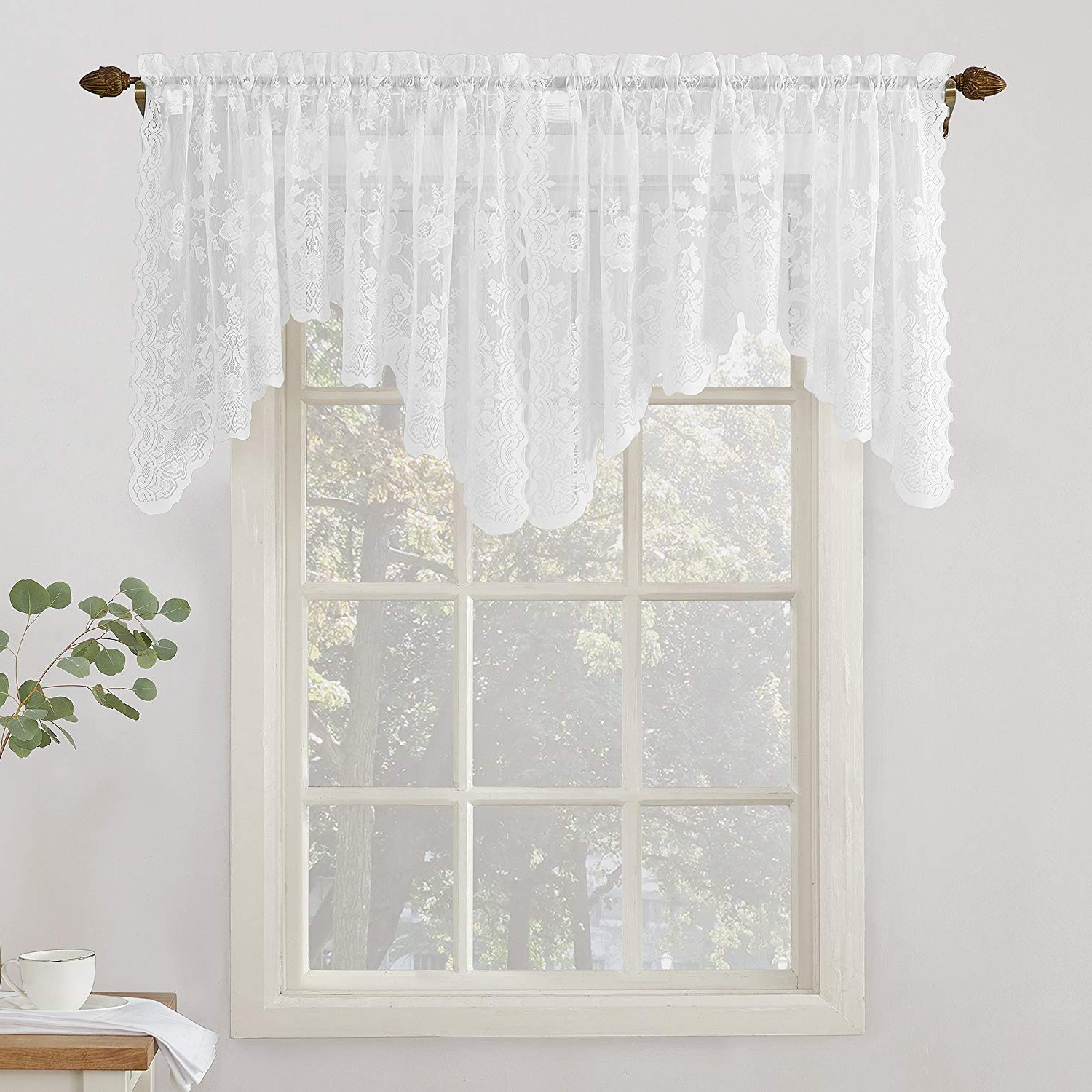 Well Known Alison Rod Pocket Lace Window Curtain Panels In No (View 4 of 20)