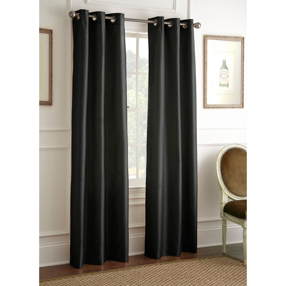 Well Known Amrapur Overseas Inc Faux Silk 84 Inch Blackout Curtain With Regard To Overseas Faux Silk Blackout Curtain Panel Pairs (View 18 of 20)