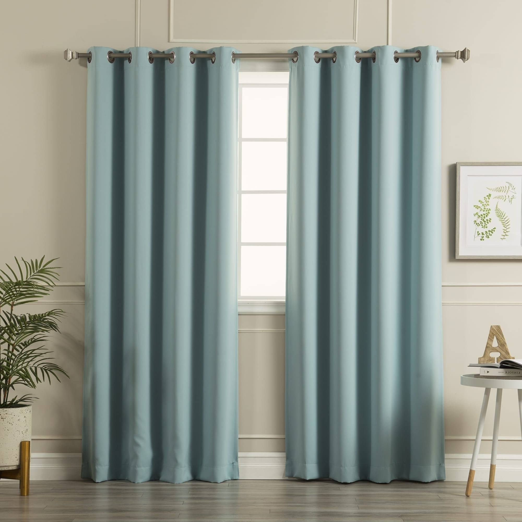 Featured Photo of Antique Silver Grommet Top Thermal Insulated Blackout Curtain Panel Pairs