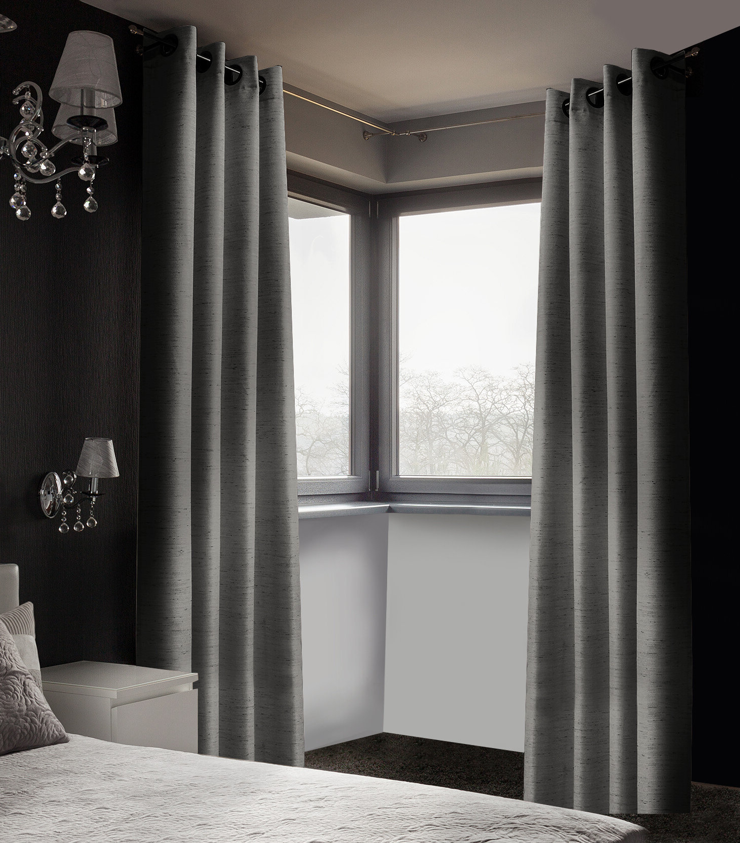 Well Known Arends Solid Room Darkening Thermal Grommet Curtain Panels In Grommet Room Darkening Curtain Panels (View 14 of 20)