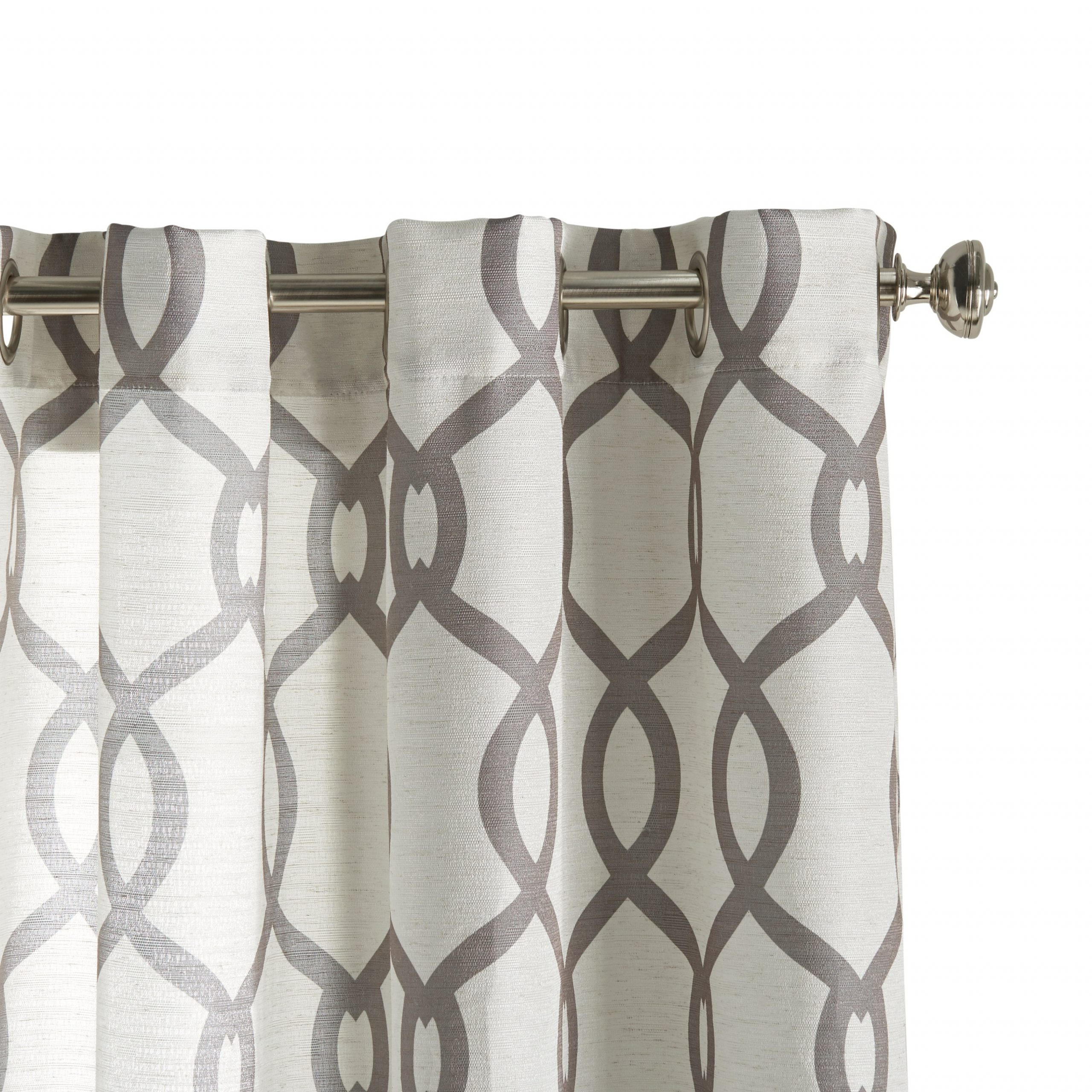 "Well Known Ati Home Kochi Linen Blend Window Grommet Top Curtain Panel Pair 108"" L In Dove Grey (as Is Item) In Kochi Linen Blend Window Grommet Top Curtain Panel Pairs (View 11 of 20)"