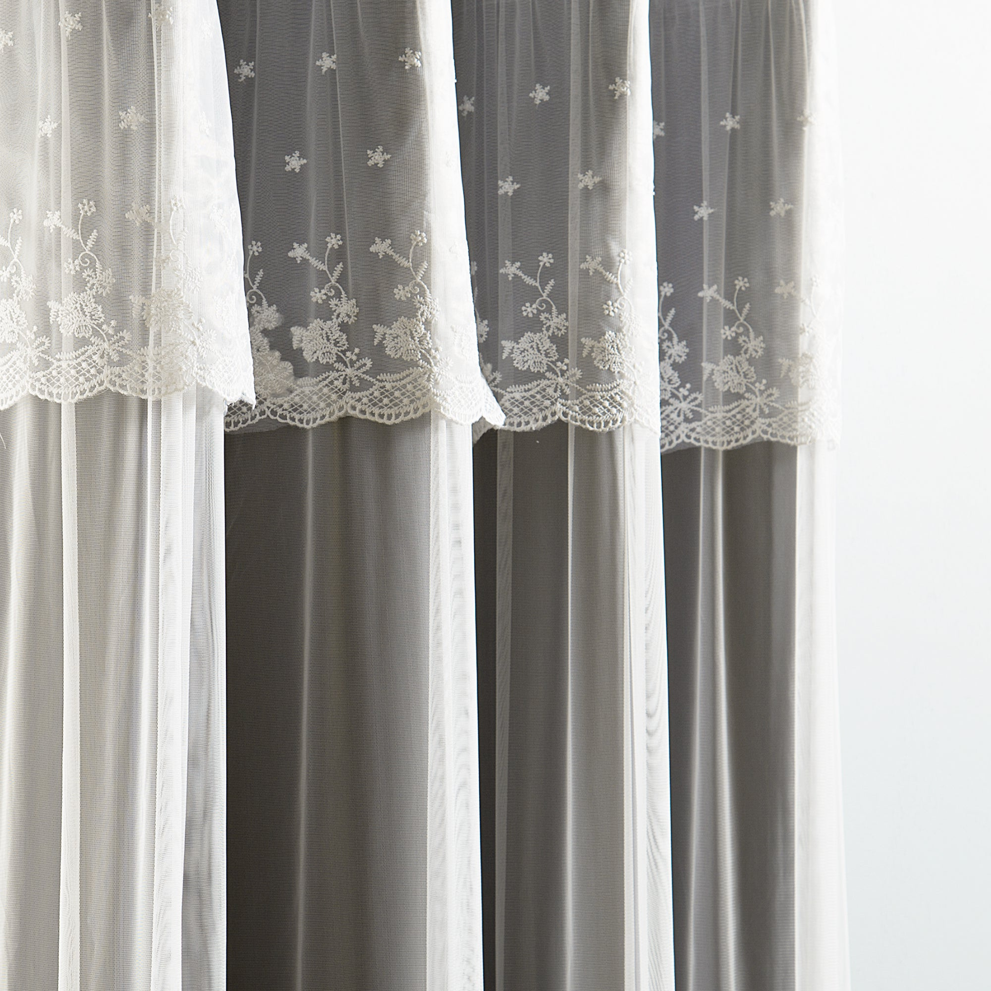 Well Known Aurora Home Mix & Match Tulle Sheer With Attached Valance And Blackout 4 Piece Curtain Panel Pair For Tulle Sheer With Attached Valance And Blackout 4 Piece Curtain Panel Pairs (View 5 of 20)