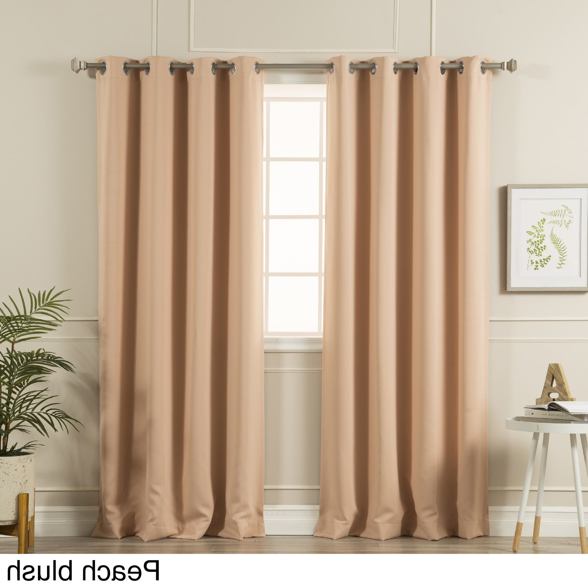 Well Known Aurora Home Silvertone Grommet Top Thermal Insulated Regarding Silvertone Grommet Thermal Insulated Blackout Curtain Panel Pairs (View 7 of 20)