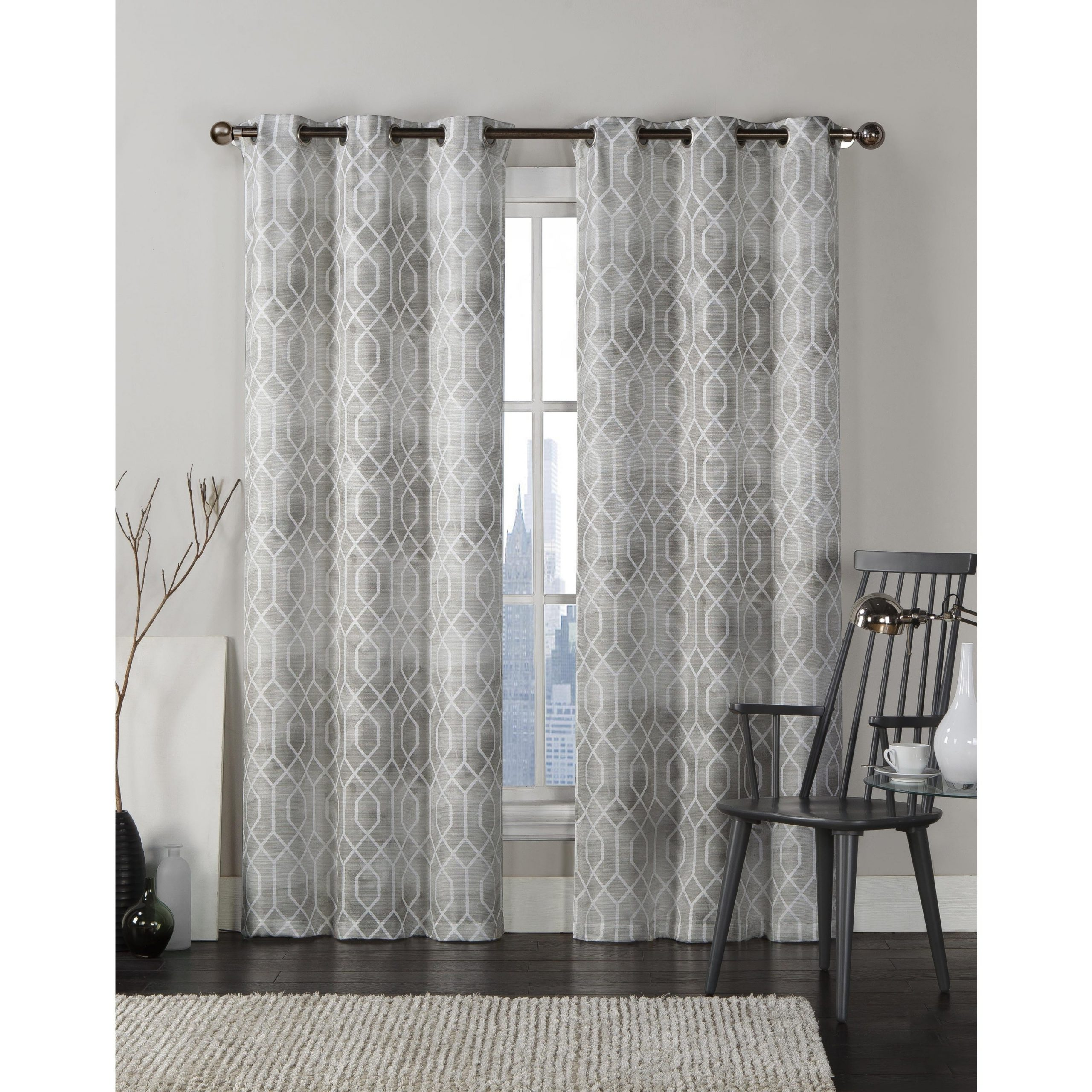"""Well Known Caldwell Curtain Panel Pairs In Vcny Andreas Grommet Top 96 Inch Curtain Panel Pair – 38"""" X 96"""" (View 18 of 20)"""