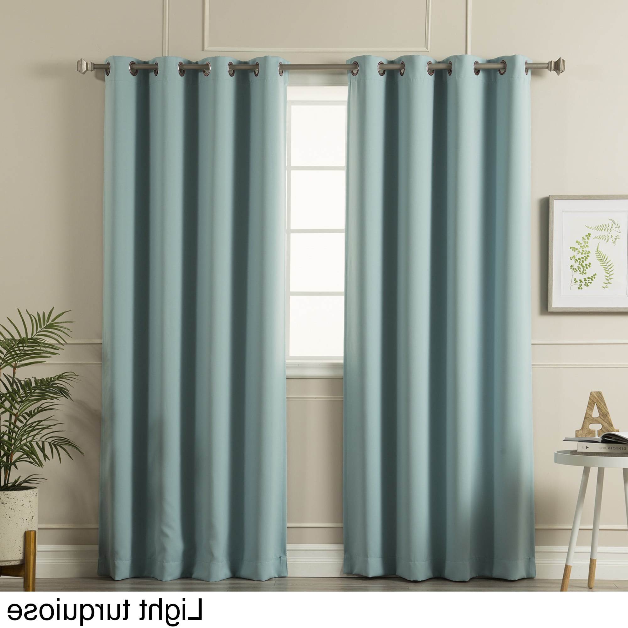 Well Known Copper Grove Fulgence Faux Silk Grommet Top Panel Curtains Inside Aurora Home Thermal Insulated Blackout Grommet Top Curtain (View 19 of 20)