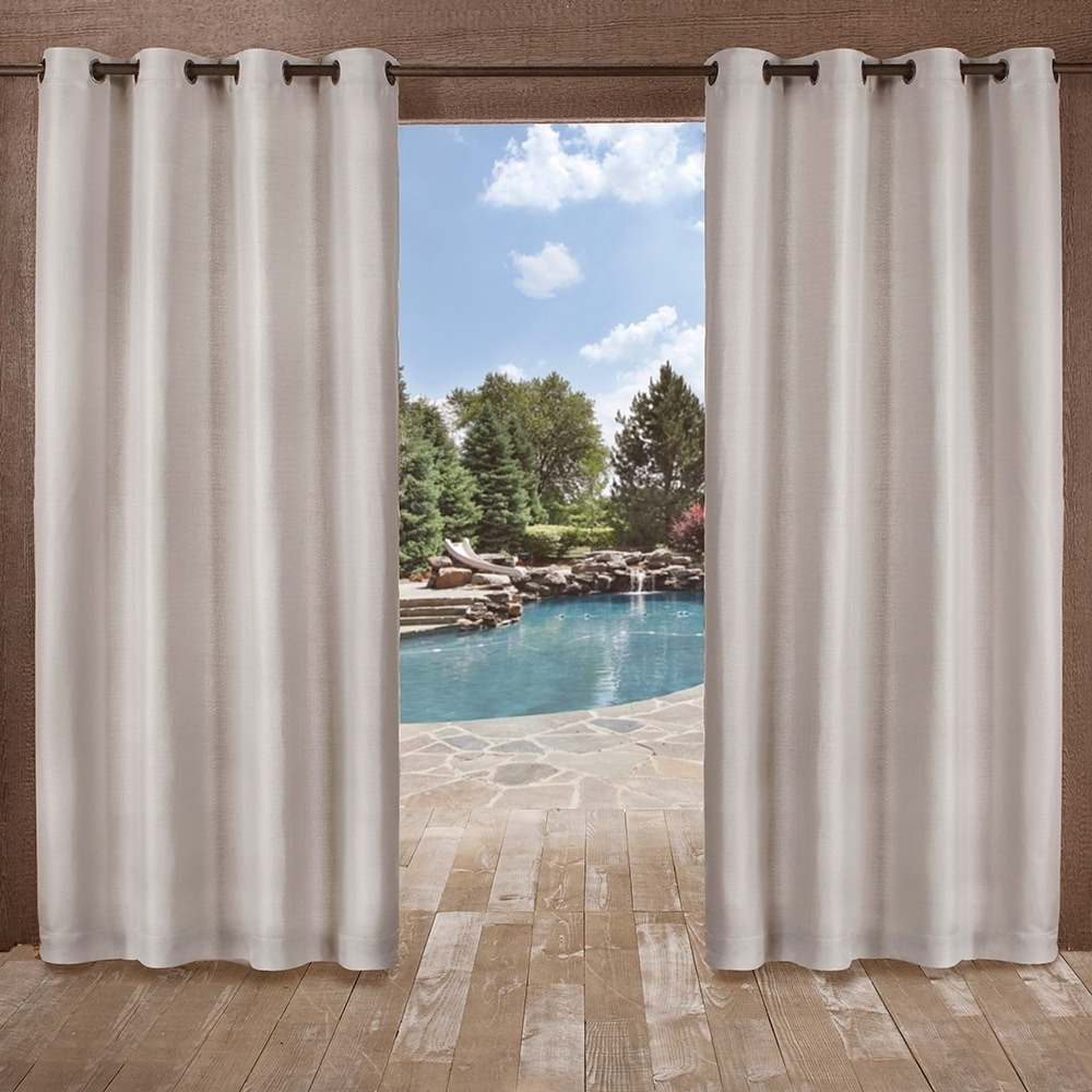 Well Known Delano Indoor/outdoor Grommet Top Curtain Panel Pairs Throughout Ati Home Delano Indoor/outdoor Grommet Top Curtain Panel (View 2 of 20)
