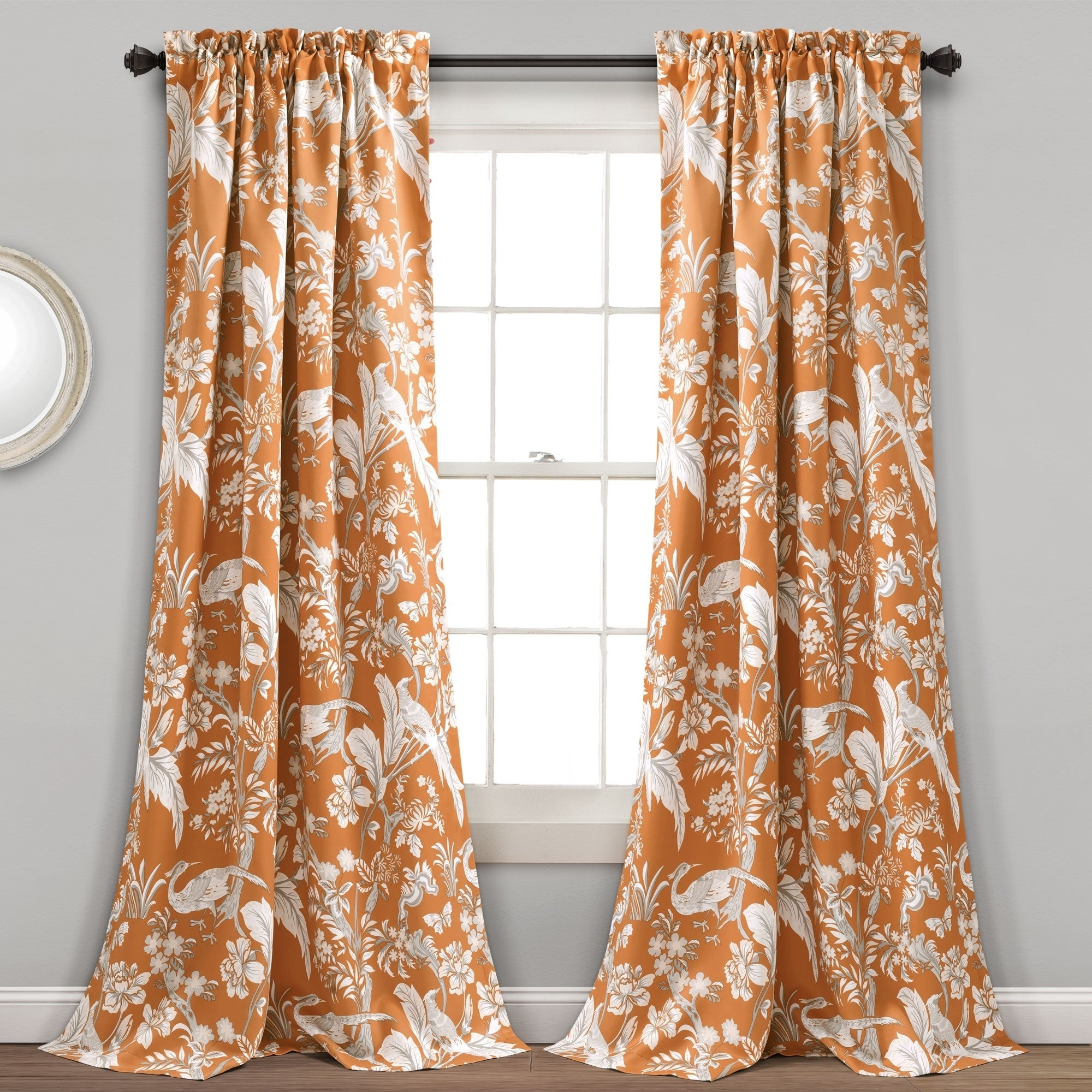 Well Known Dolores Room Darkening Floral Curtain Panel Pairs Throughout Lush Decor Dolores Room Darkening Floral Curtain Panel Pair (View 7 of 20)
