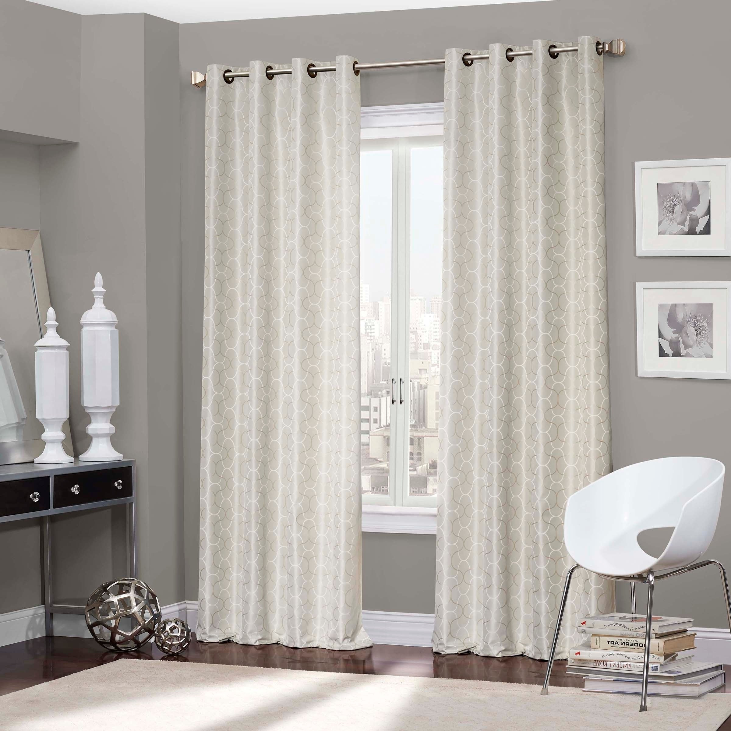 Well Known Eclipse Webber Thermaback Blackout Window Curtain Panel Regarding Thermaback Blackout Window Curtains (View 2 of 20)