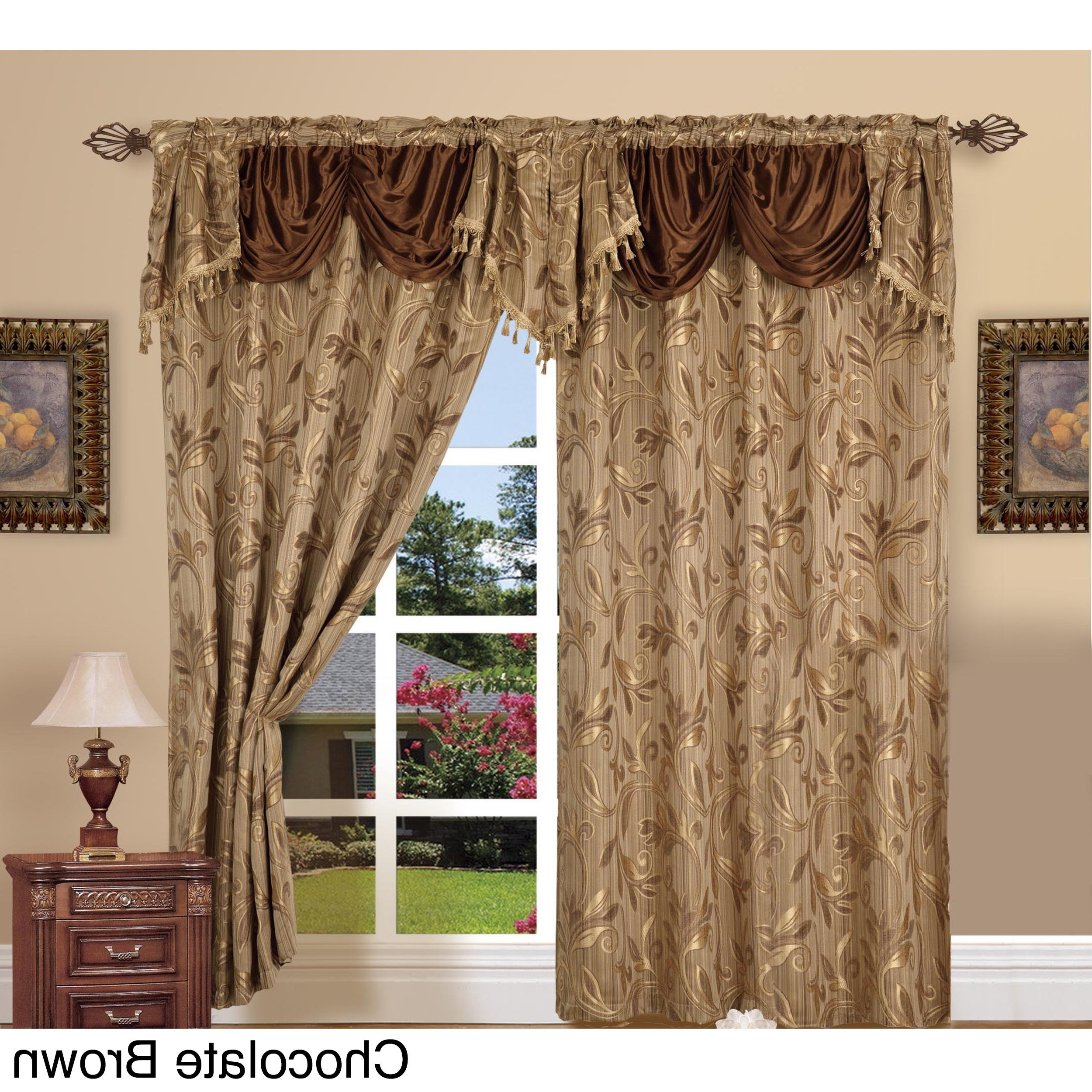 Well Known Elegant Comfort Luxury Jacquard Rod Pocket 54 Inch Window Curtain Panel Pair With Regard To Elegant Comfort Window Sheer Curtain Panel Pairs (View 2 of 20)