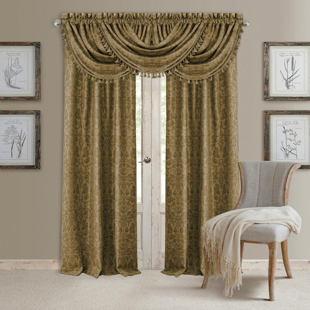 Well Known Elrene Mia Jacquard Blackout Curtain Panels Within Elrene Antonia Blackout Window Curtain (View 10 of 20)