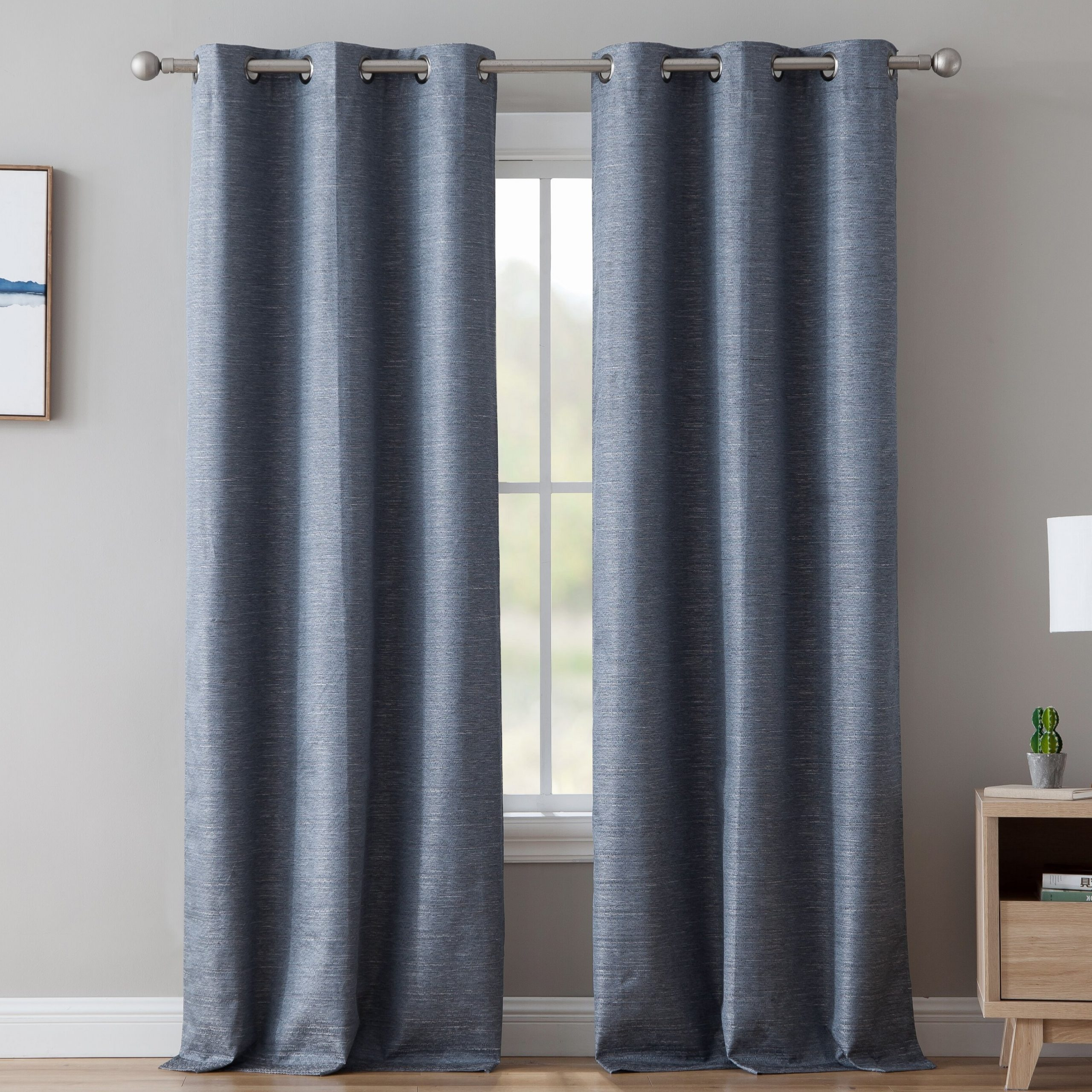 Well Known Embossed Thermal Weaved Blackout Grommet Drapery Curtains Pertaining To Middlewich Textured Solid Max Blackout Thermal Grommet Curtain Panels (View 20 of 20)