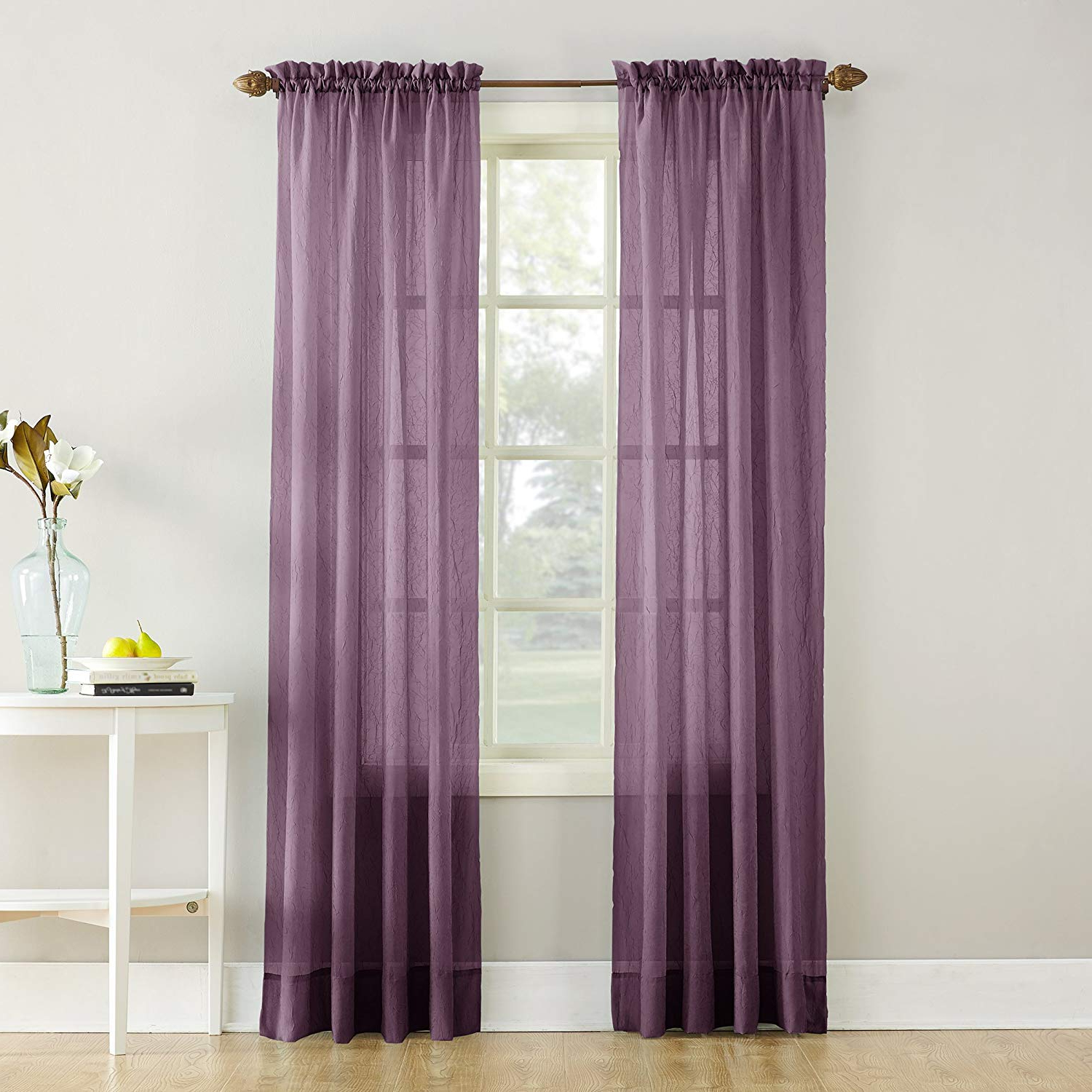 Well Known Erica Sheer Crushed Voile Single Curtain Panels In No (View 2 of 20)