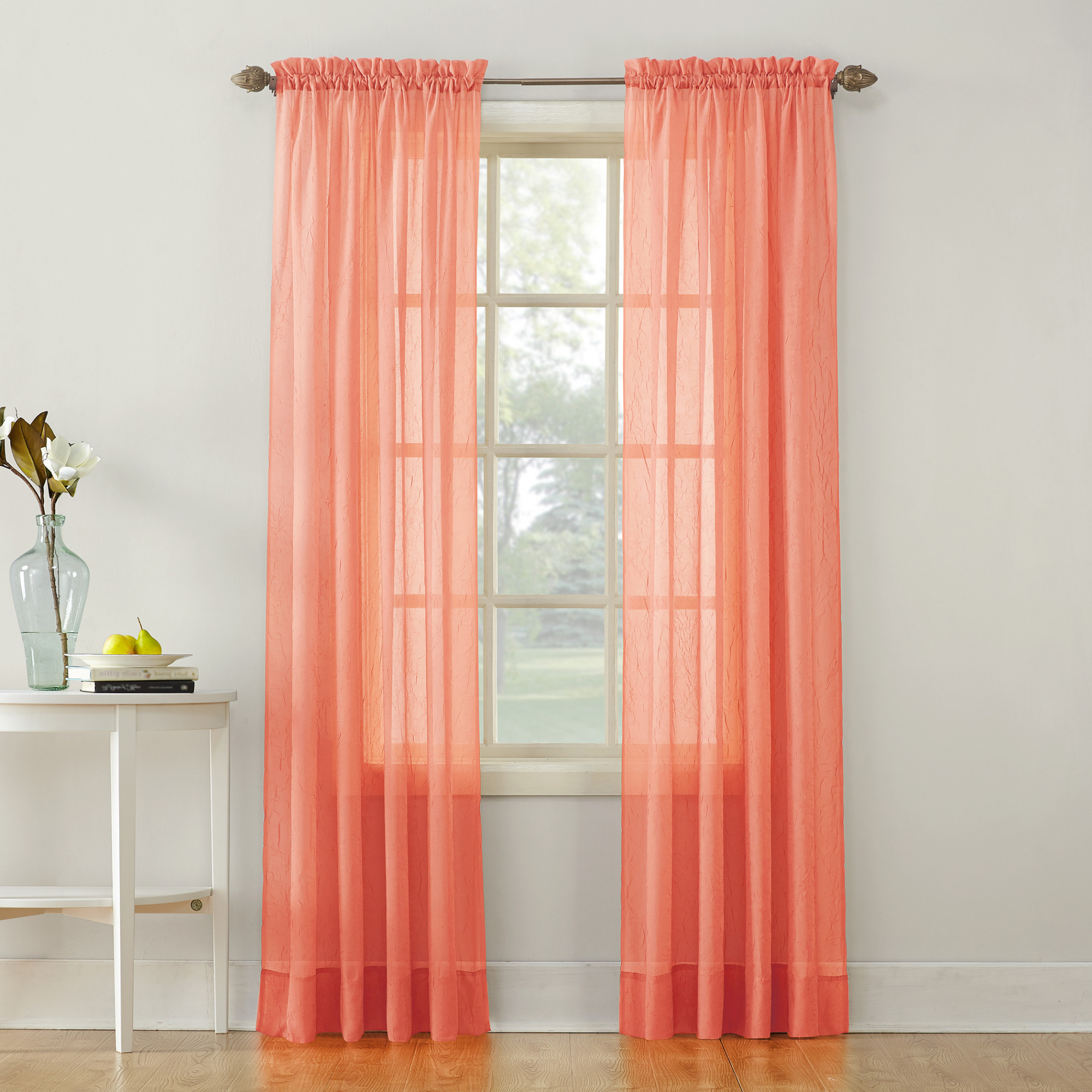 Well Known Erica Sheer Crushed Voile Single Curtain Panels Inside No (View 16 of 20)