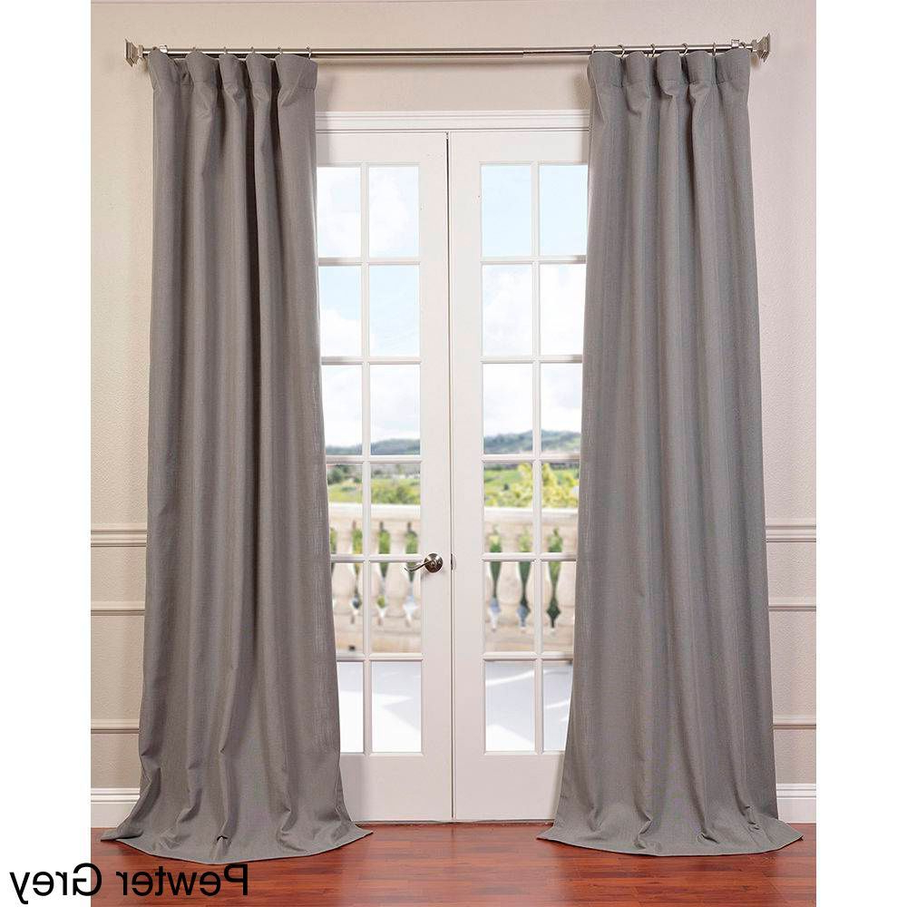 Well Known Exclusive Fabrics Heavy Faux Linen Curtain Panel (pewter With Regard To Heavy Faux Linen Single Curtain Panels (View 14 of 20)