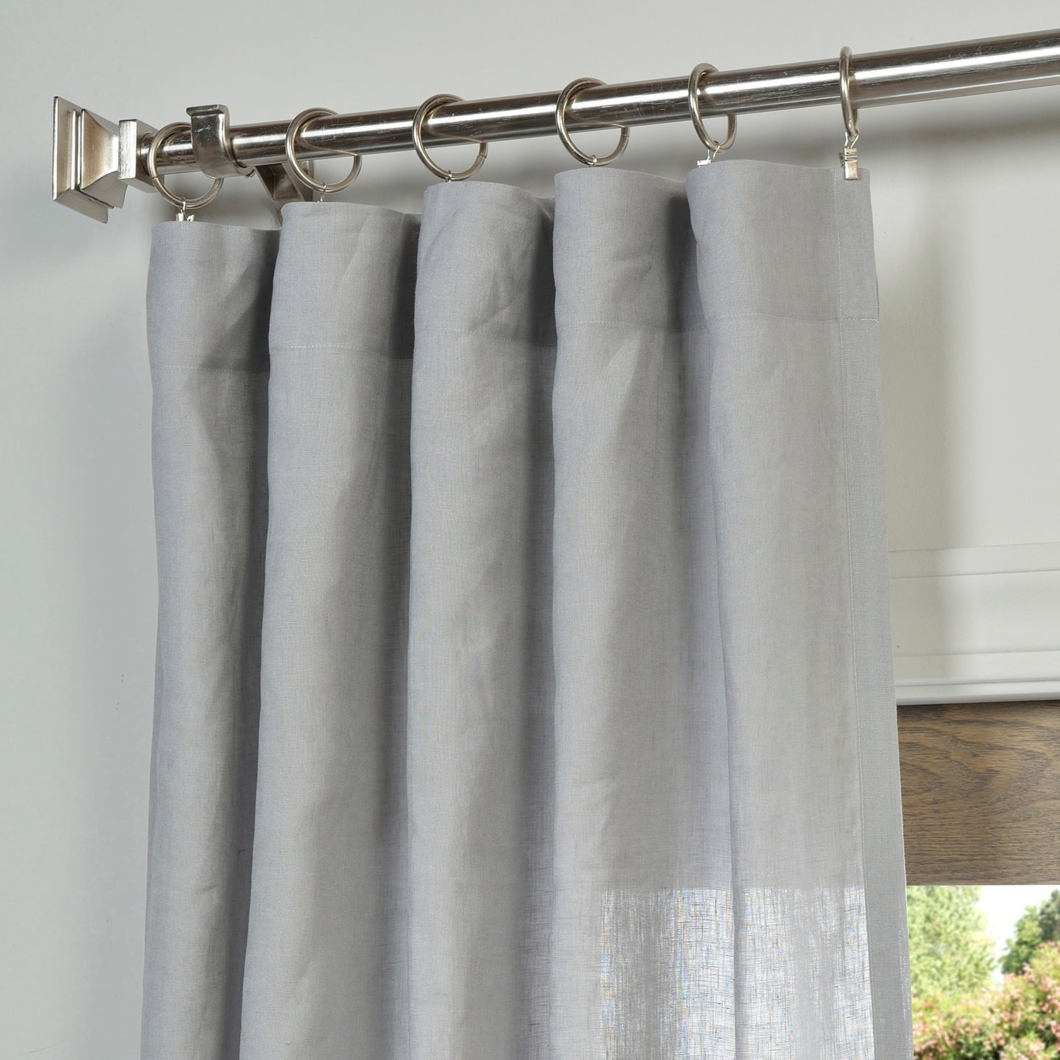 Well Known Exclusive Fabrics Signature French Linen Curtain Panel Within Signature French Linen Curtain Panels (View 6 of 20)