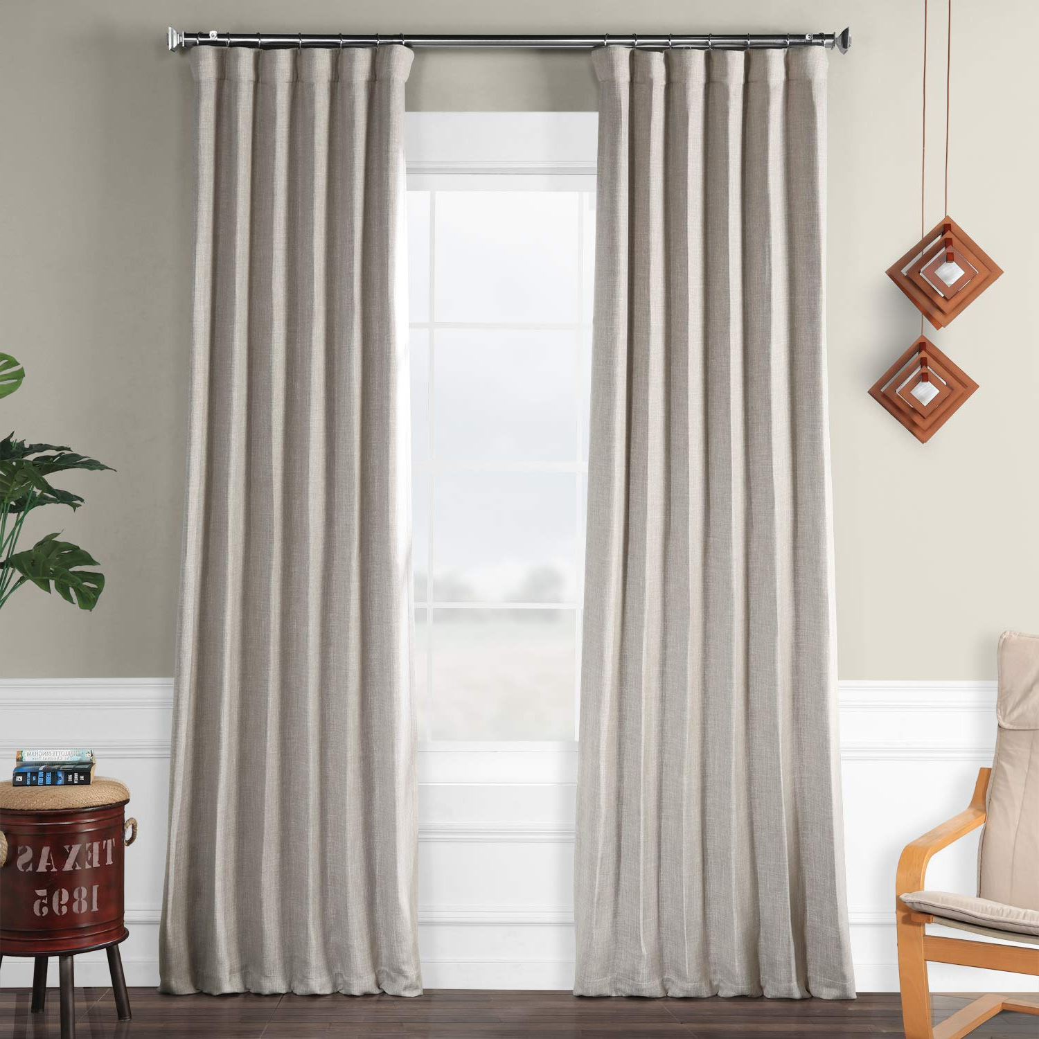 Well Known Faux Linen Blackout Curtains Regarding Hpd Half Price Drapes Boch Ln1858 96 Faux Linen Blackout Room Darkening Curtains, 50 X 96, Clay (View 10 of 20)