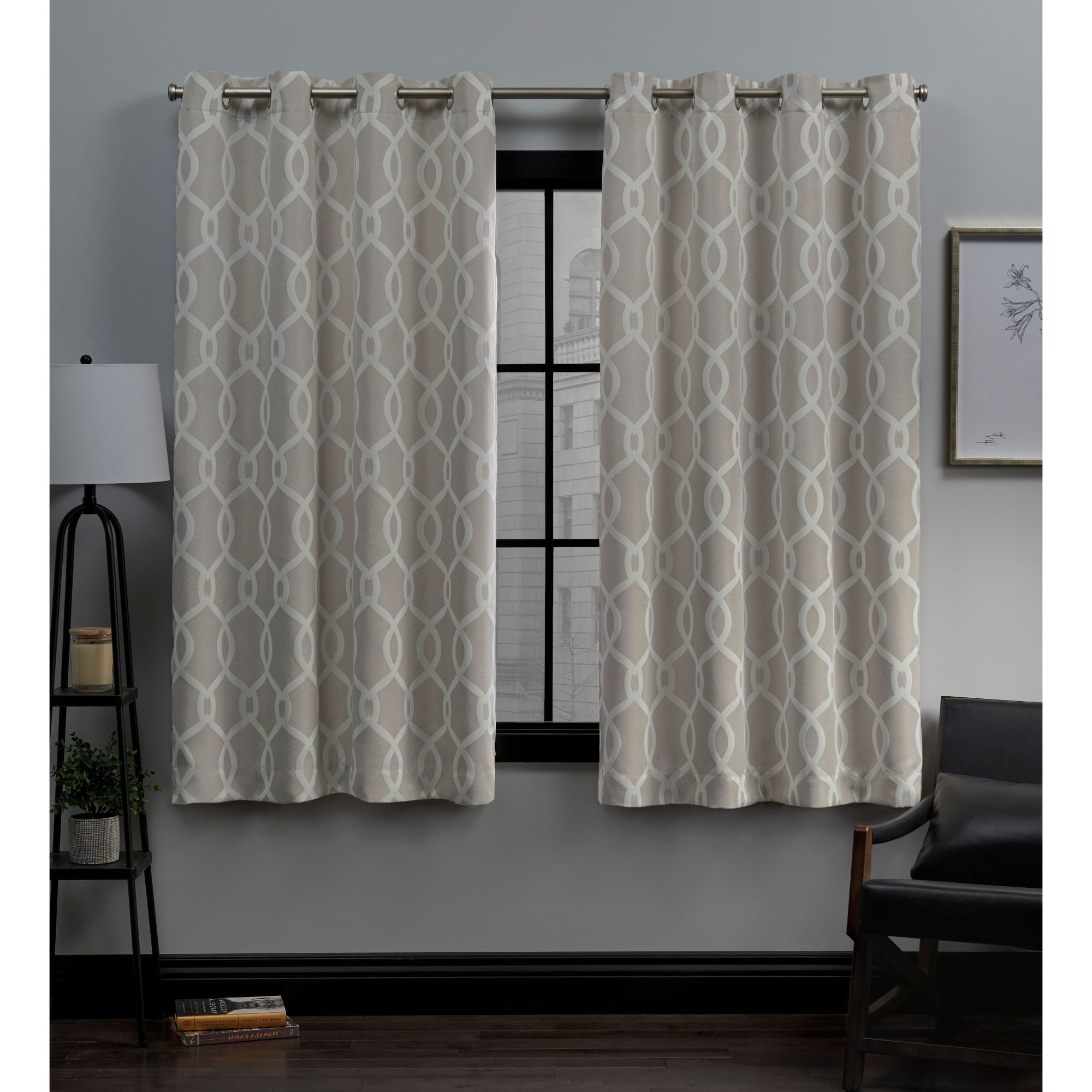 Well Known Forest Hill Woven Blackout Grommet Top Curtain Panel Pairs Pertaining To Ati Home Trilogi Woven Blackout Grommet Top Curtain Panel Pair (View 6 of 20)