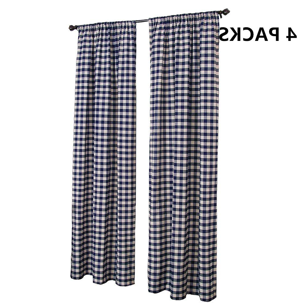 Well Known Grainger Buffalo Check Blackout Window Curtains Within Amazon: Lghome Buffalo Check Curtains Farmhouse Kitchen (View 14 of 20)