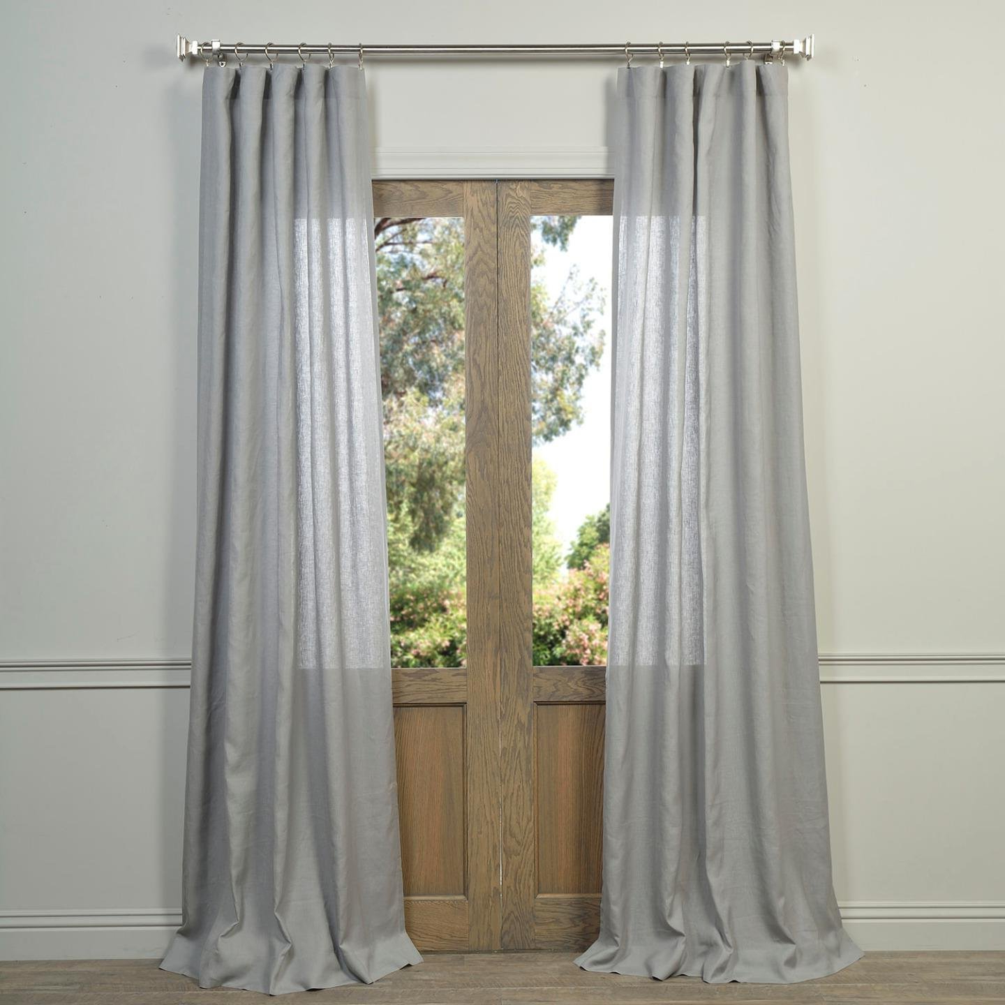 Well Known Half Price Drapes Linen Sheer Curtain, Grey (Grey) Within Signature French Linen Curtain Panels (View 12 of 20)