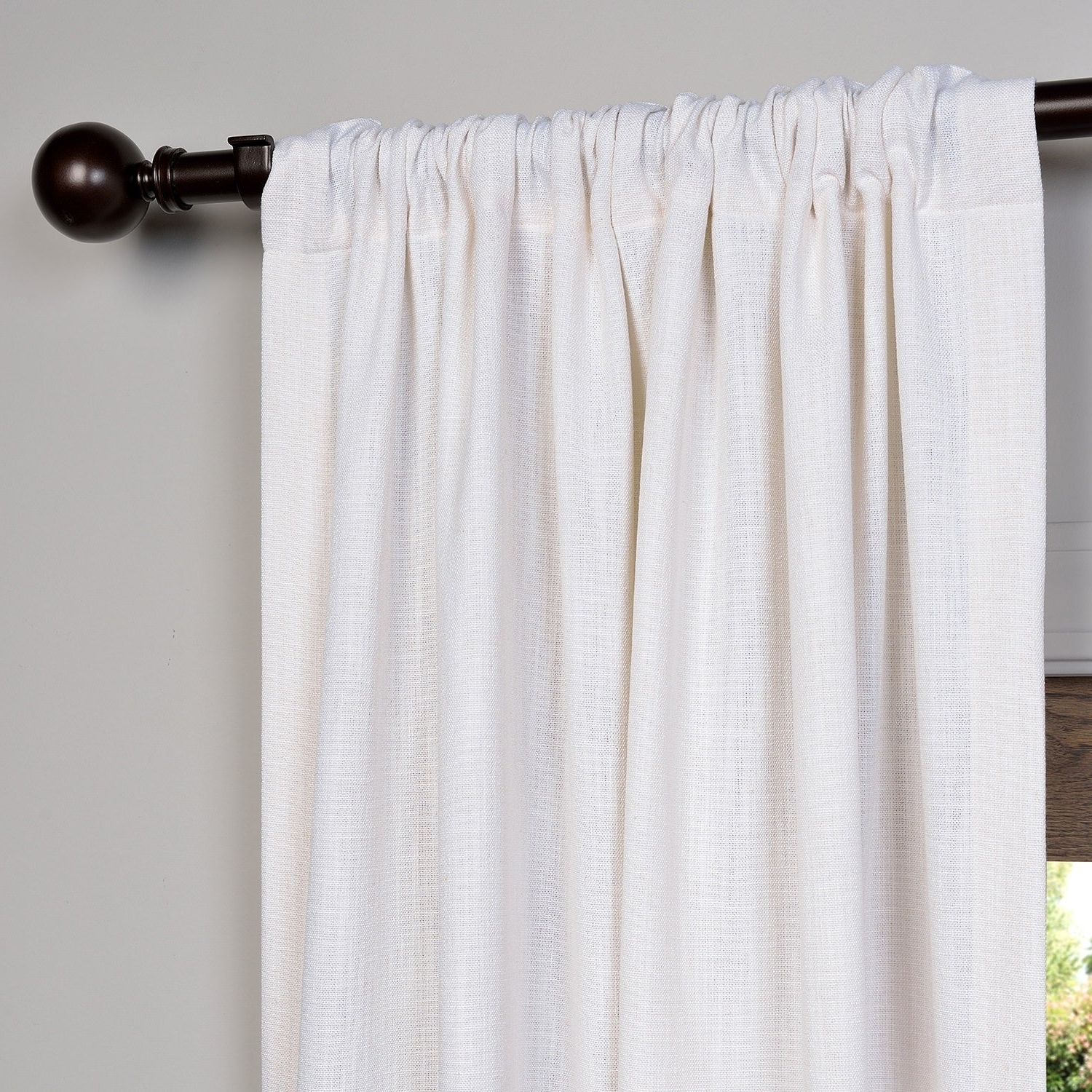 Well Known Heavy Faux Linen Single Curtain Panels In Heavy Faux Linen Single Curtain Panel (View 5 of 20)