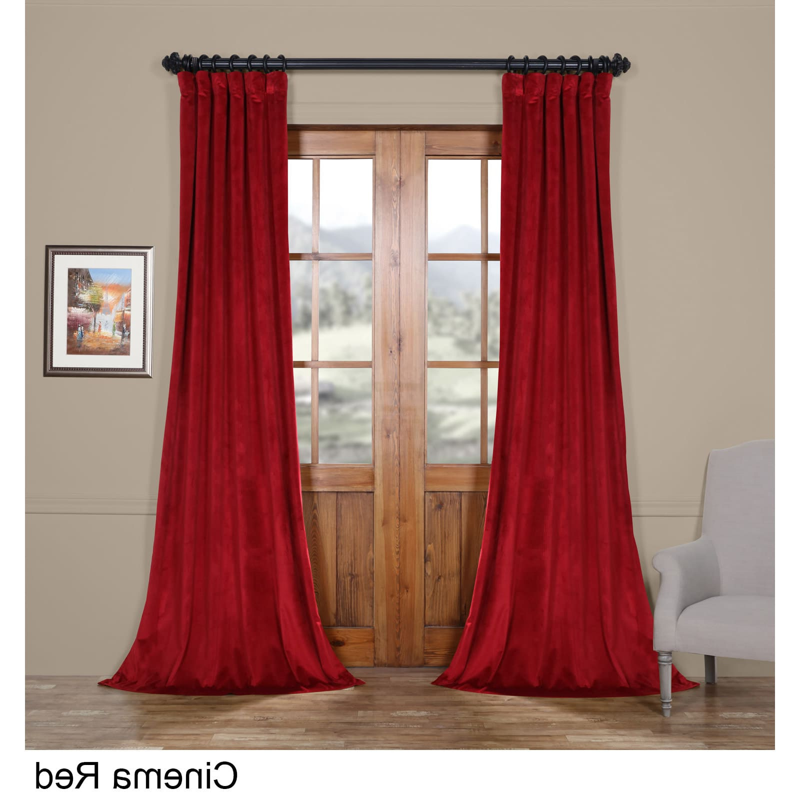 Well Known Heritage Plush Velvet Curtains Regarding Exclusive Fabrics Heritage Plush Velvet Curtain In  (View 20 of 20)