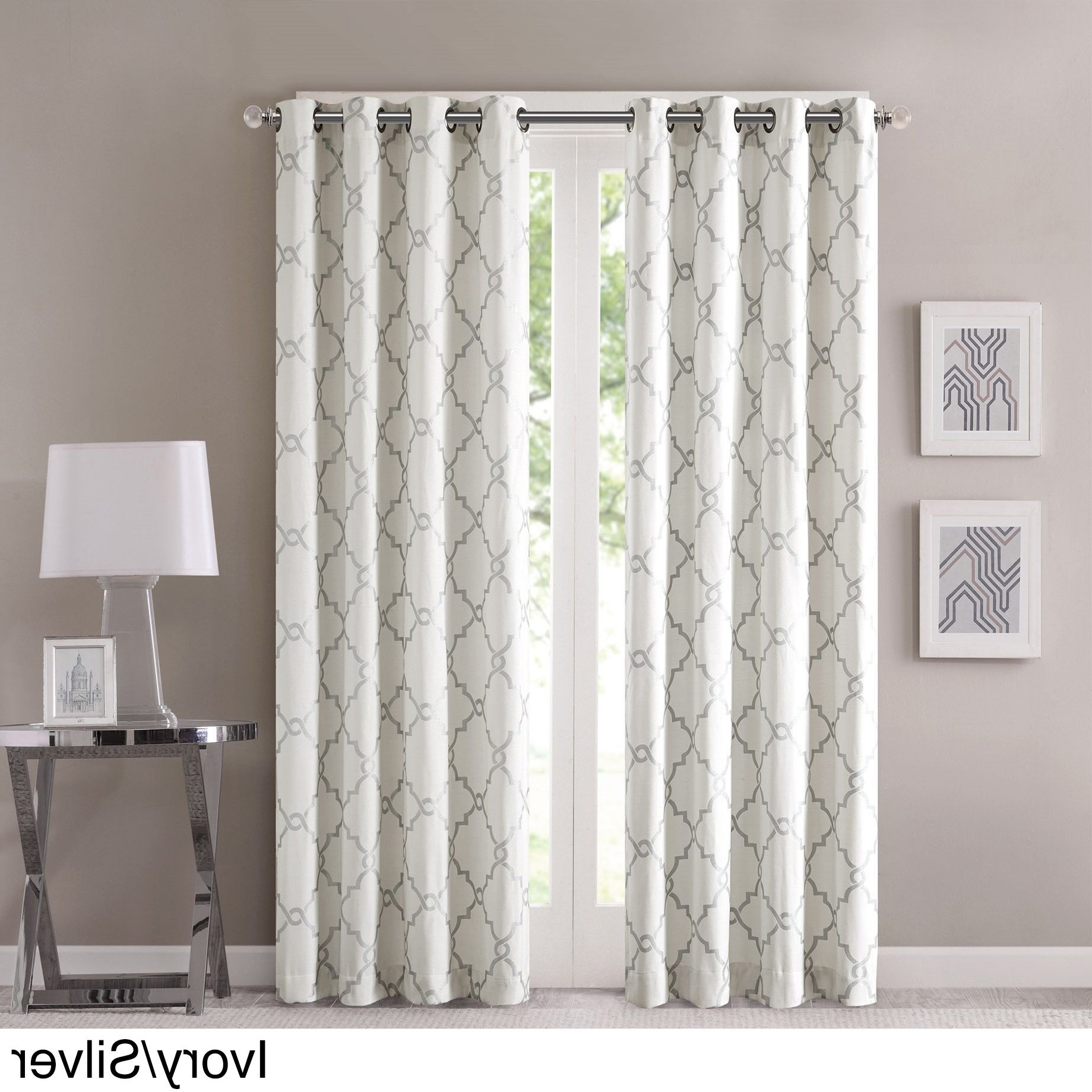 Well Known Luxury Collection Cranston Sheer Curtain Panel Pairs Inside Madison Park Westmont Curtain Panel (50x63 Ivory/silver (View 11 of 20)