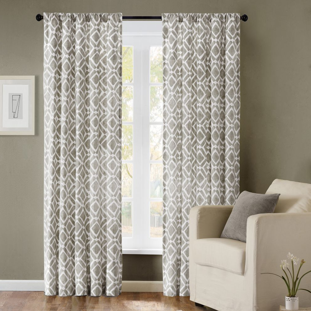 Well Known Madison Park Ella Curtain Panel (View 5 of 20)