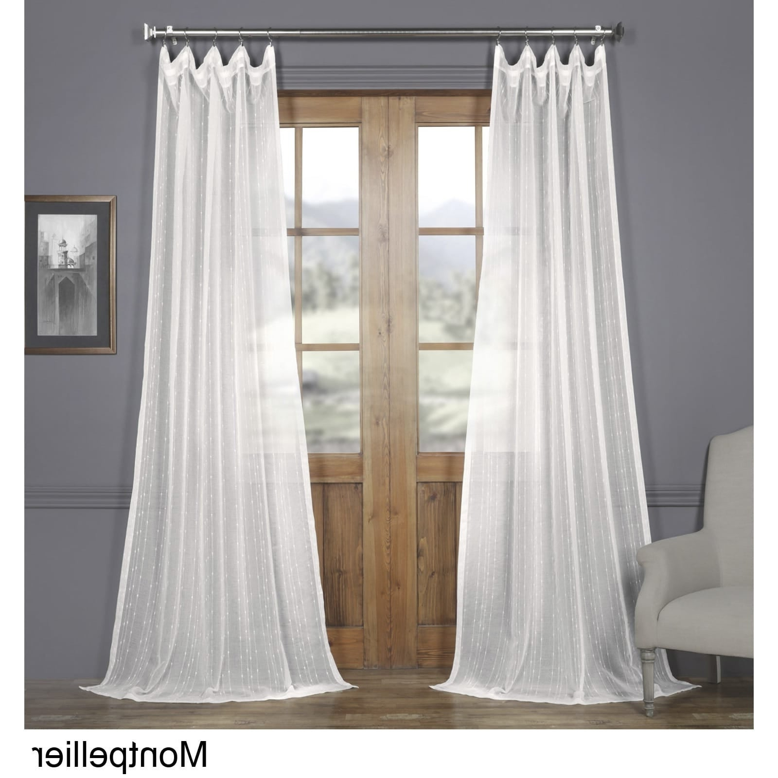 Featured Photo of Montpellier Striped Linen Sheer Curtains