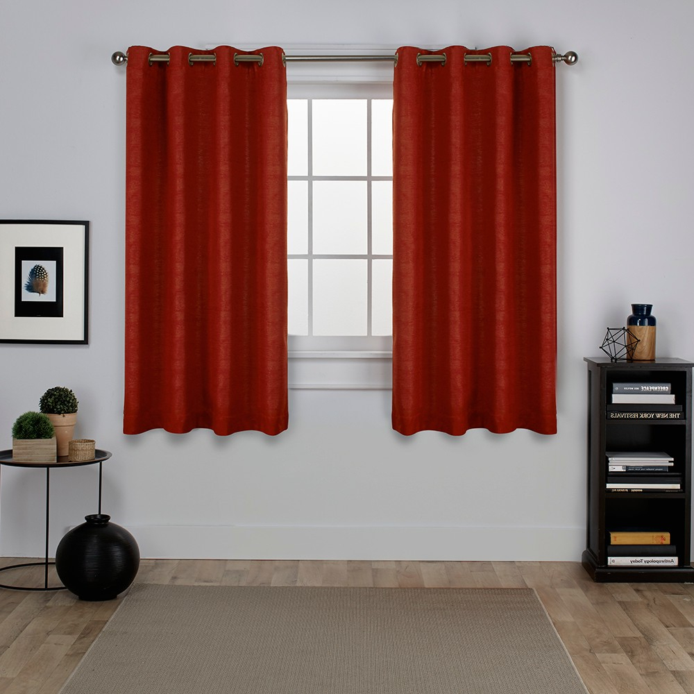 Well Known Oxford Textured Sateen Thermal Room Darkening Grommet Top With Regard To Oxford Sateen Woven Blackout Grommet Top Curtain Panel Pairs (View 20 of 20)