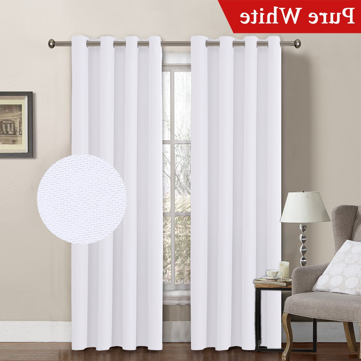 Well Known Penny Sheer Grommet Top Curtain Panel Pairs In White Linen Curtain Panels – Recipes With More (View 20 of 20)