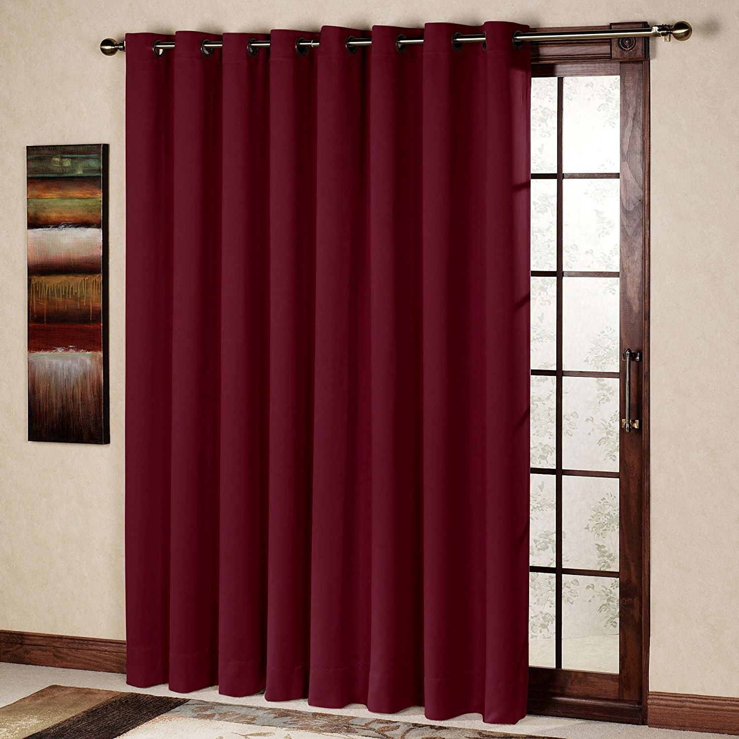 Well Known Rhf Wide Thermal Blackout Patio Door Curtain Panel, Sliding Inside Grommet Blackout Patio Door Window Curtain Panels (View 10 of 20)