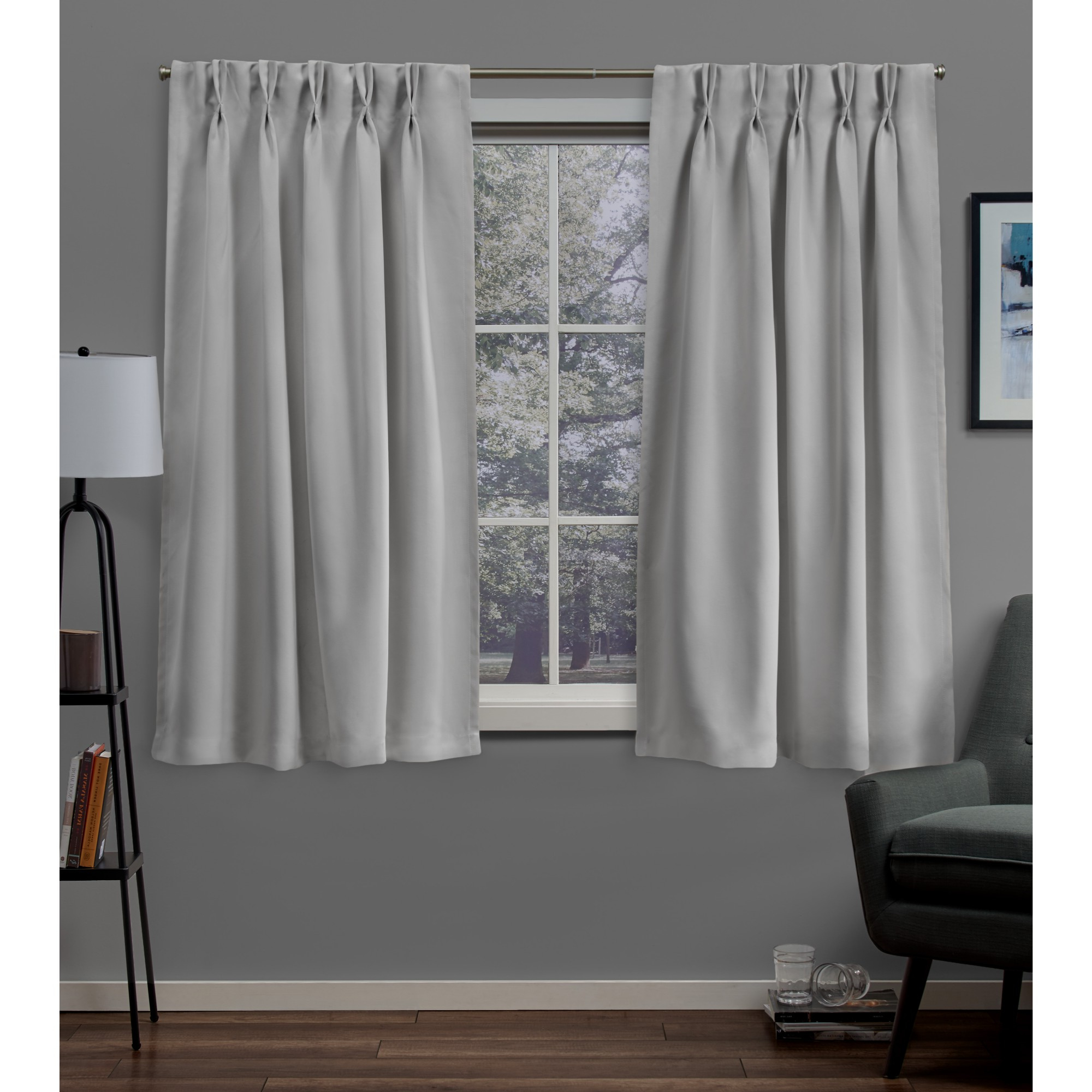 Well Known Sateen Woven Blackout Curtain Panel Pairs With Pinch Pleat Top In Sateen Woven Blackout Pinch Pleat Window Curtain Panel Pair (View 5 of 20)