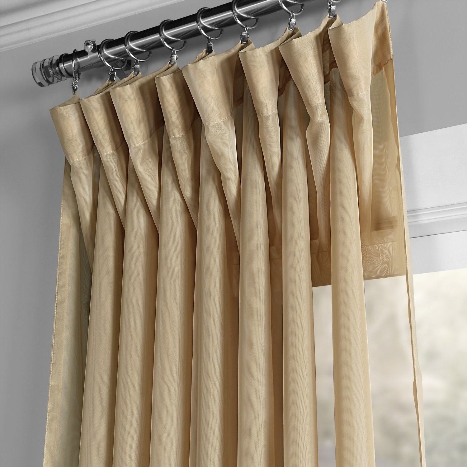 Well Known Signature Extrawide Double Layer Sheer Curtain Panels Regarding Exclusive Fabrics Signature Extrawide Double Layer Sheer Curtain Panel (View 8 of 20)