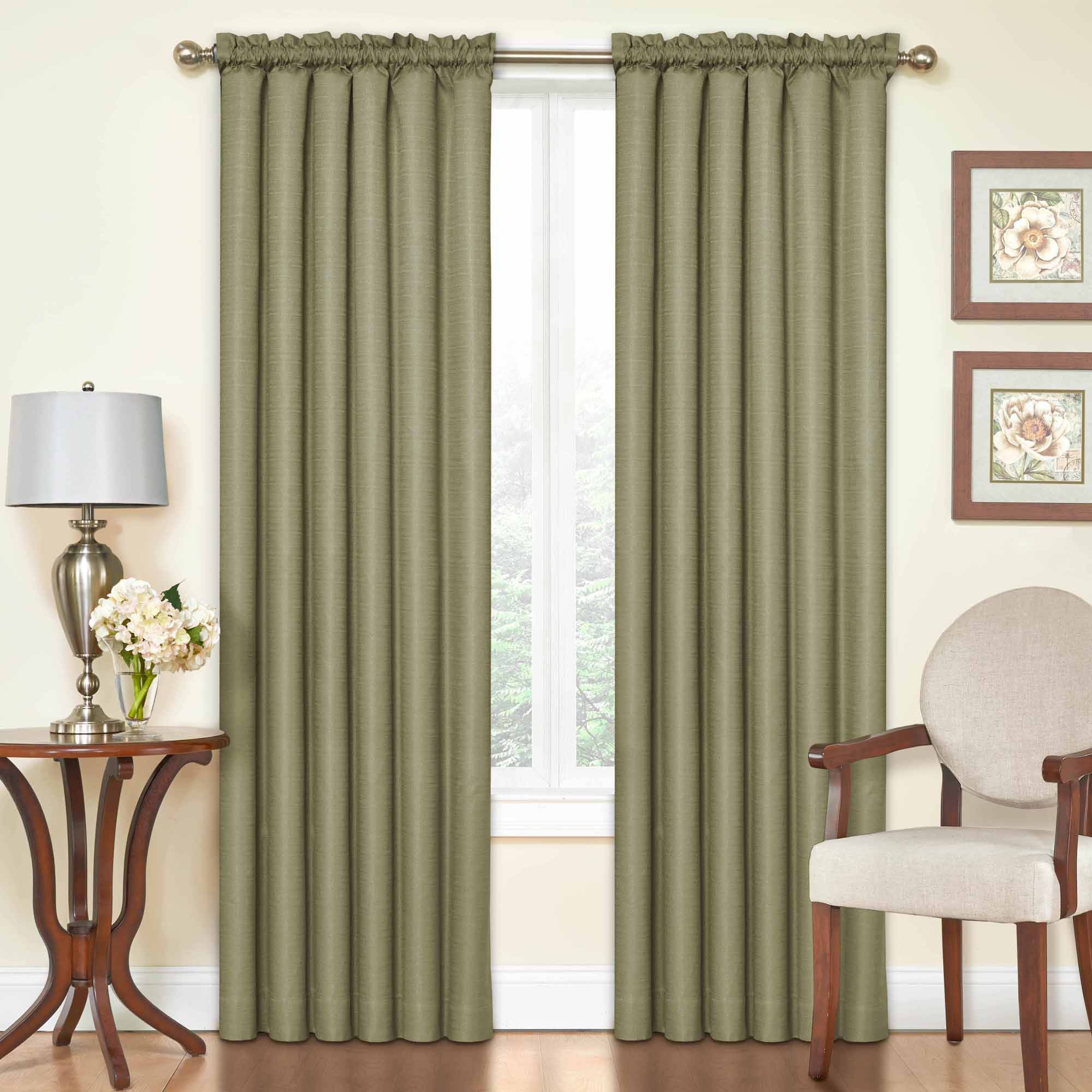 Well Known Softline Trenton Grommet Top Curtain Panels Throughout Eclipse Samara Blackout Energy Efficient Thermal Curtain (View 8 of 20)