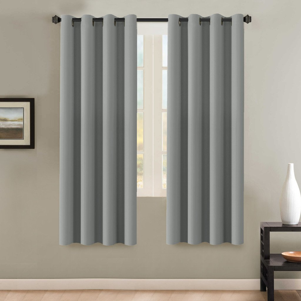 Well Known Solid Insulated Thermal Blackout Long Length Curtain Panel Pairs Inside Details About H (View 15 of 20)