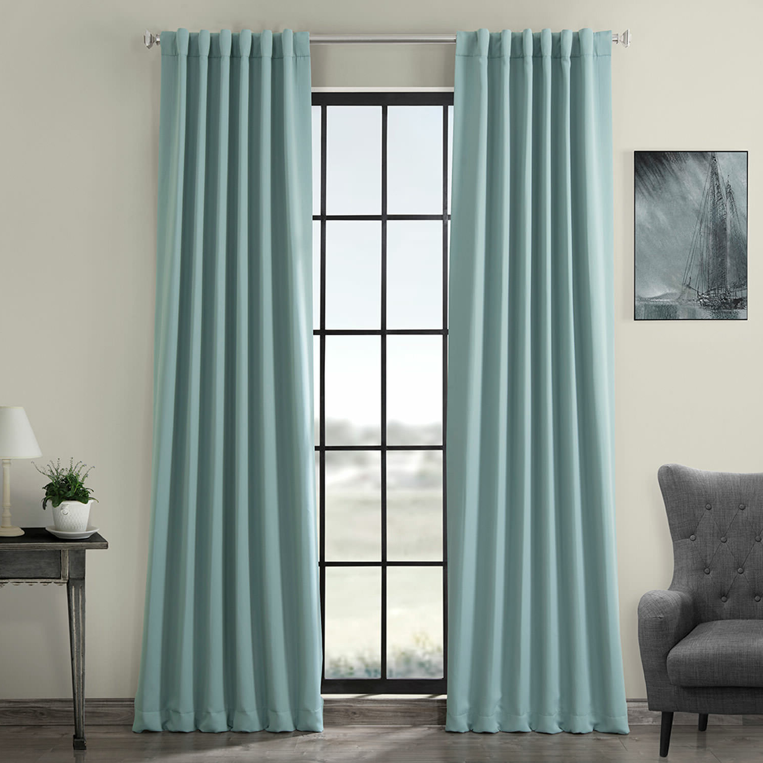 Well Known Solid Thermal Insulated Blackout Curtain Panel Pairs Inside Birch Lane™ Heritage Cairo Solid Room Darkening Thermal Rod (View 11 of 20)