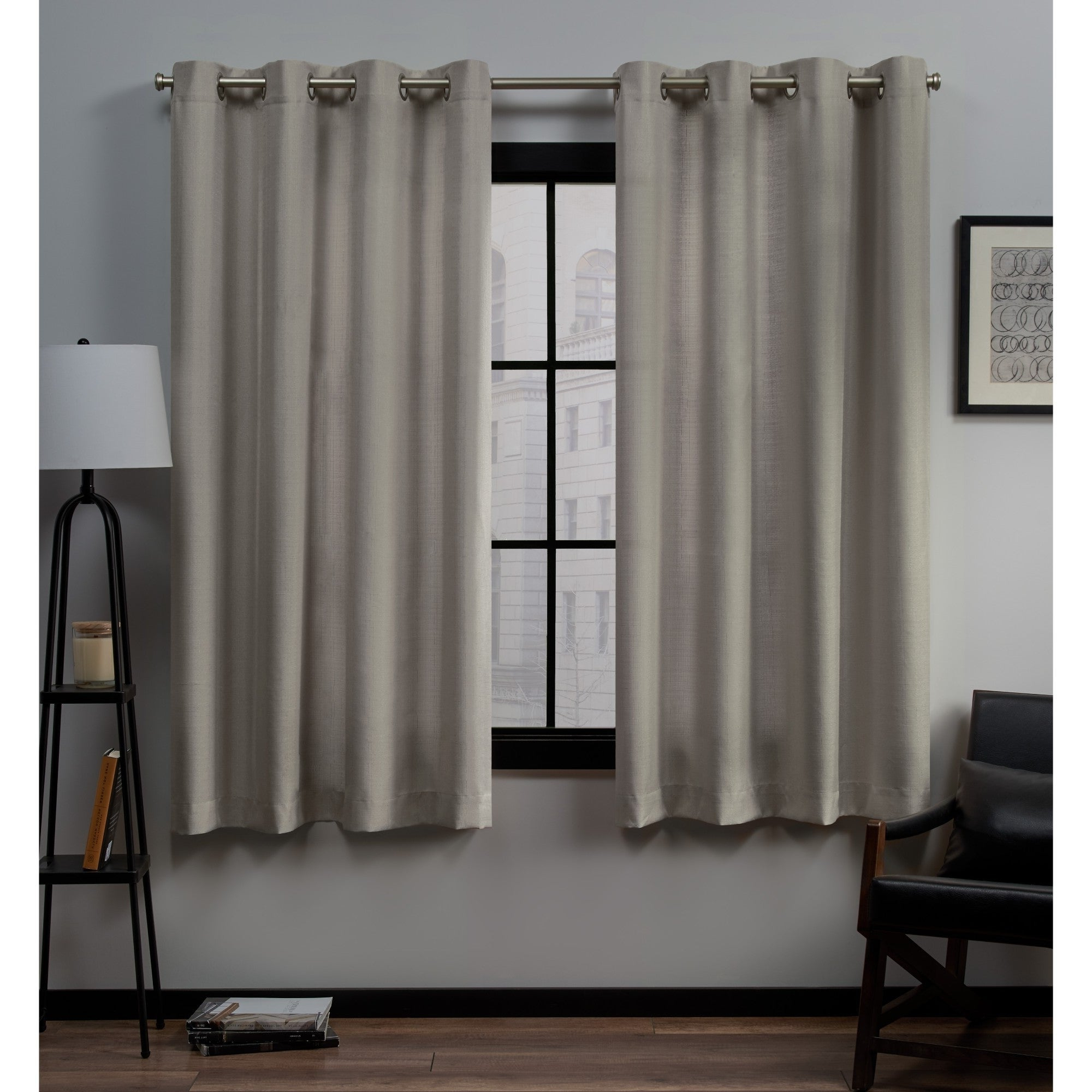 Well Known Sugar Creek Grommet Top Loha Linen Window Curtain Panel Pairs Throughout Porch & Den Sugar Creek Grommet Top Loha Linen Window Curtain Panel Pair In  Winter White (52X63)(As Is Item) (View 20 of 20)