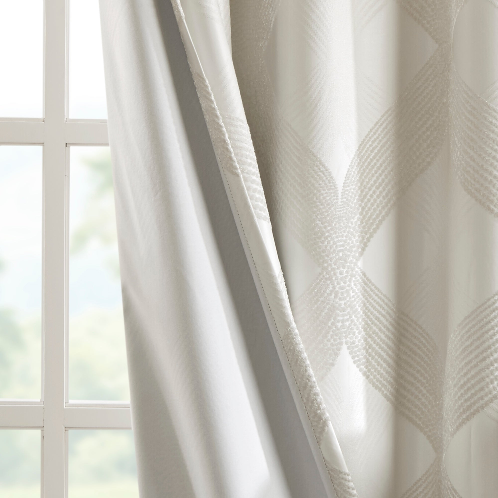 Well Known Sunsmart Abel Ogee Knitted Jacquard Total Blackout Curtain Panel Intended For Sunsmart Abel Ogee Knitted Jacquard Total Blackout Curtain Panels (View 11 of 20)