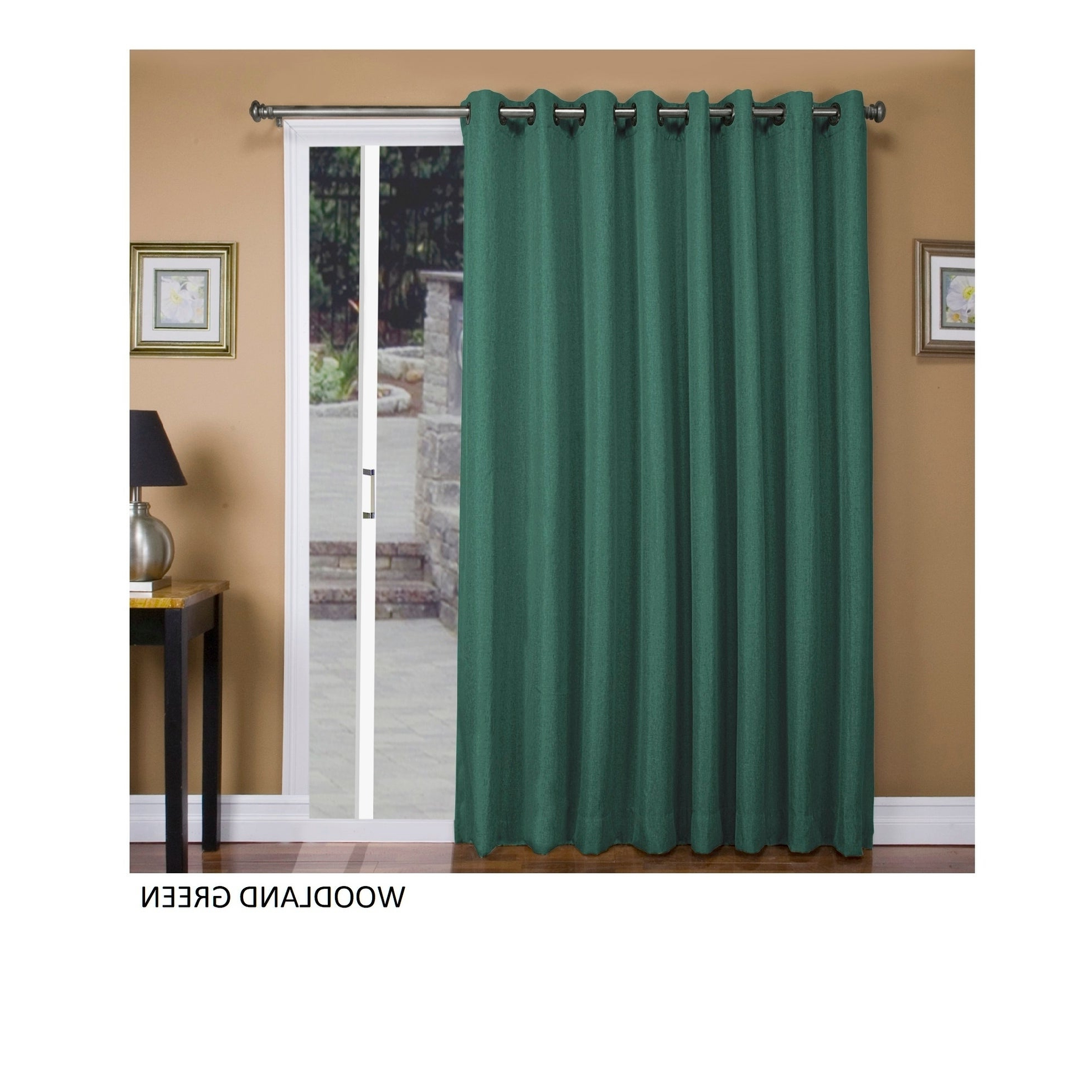 "Well Known Tacoma Double Blackout Grommet Curtain Panels Intended For Tacoma Double Blackout Grommet Patio Curtain Panel – 106""w X 84""l (View 10 of 20)"
