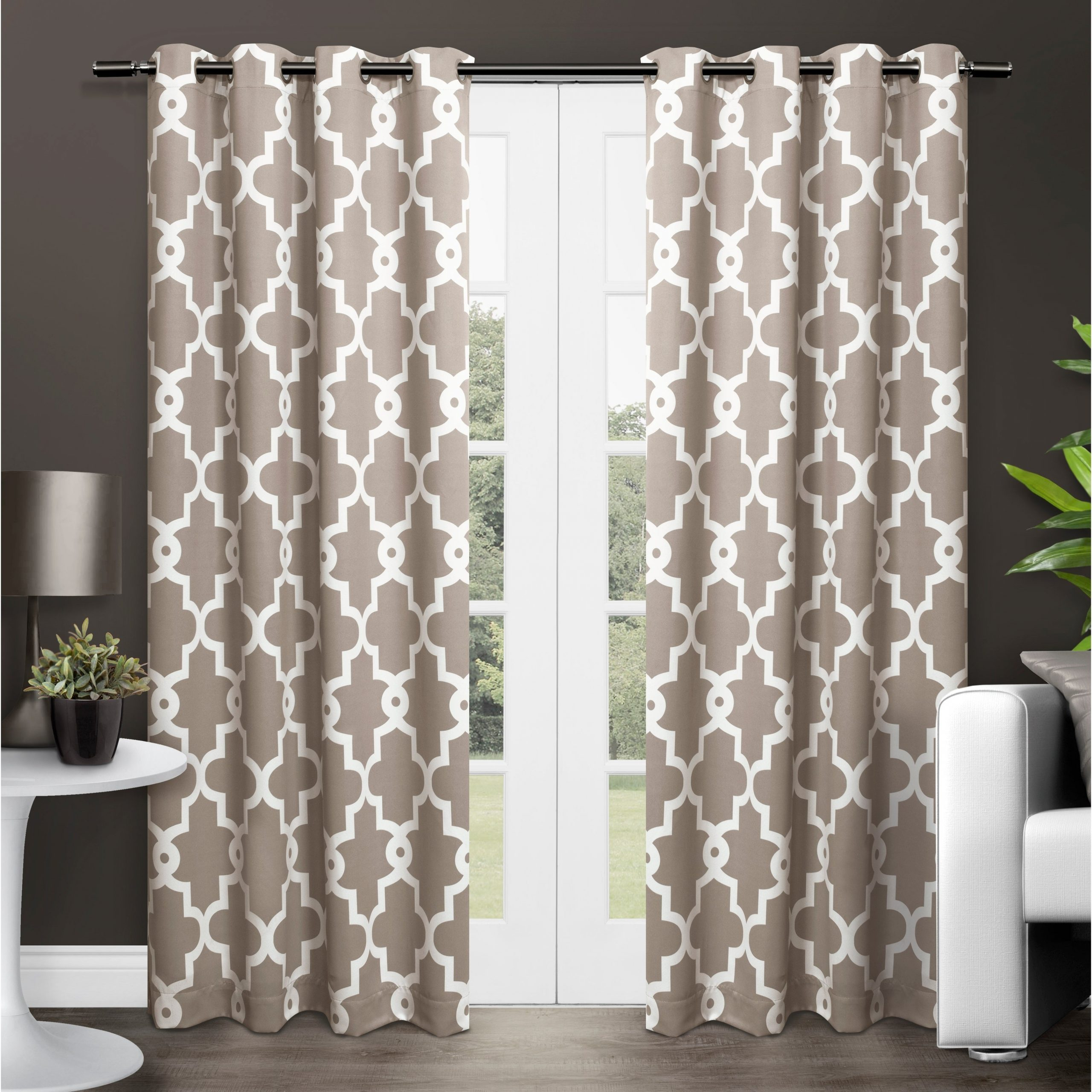 Well Known The Curated Nomad Duane Jacquard Grommet Top Curtain Panel Pairs With Regard To The Curated Nomad Duane Blackout Curtain Panel Pair (View 21 of 21)