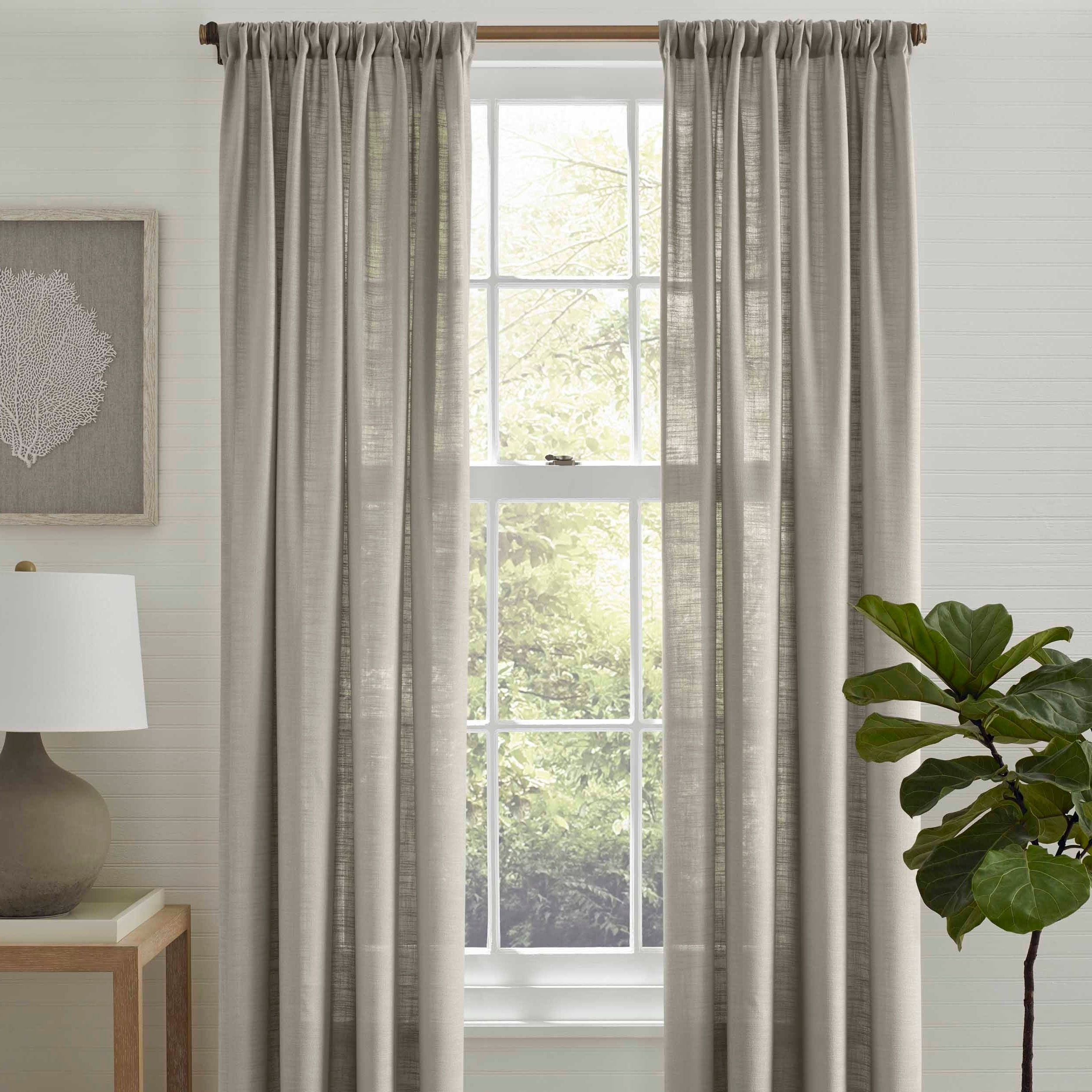 Well Known The Gray Barn Kind Koala Curtain Panel Pairs With Regard To Tommy Bahama Linen Breeze Grey Pole Top Panel Pair – 72X (View 6 of 20)