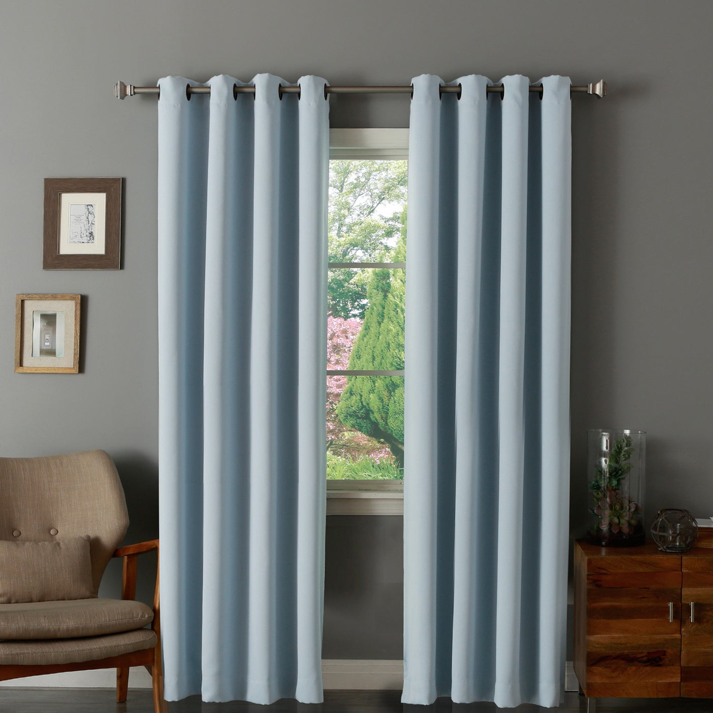 Well Known Thermal Insulated Blackout Grommet Top Curtain Panel Pairs Regarding Aurora Home Thermal Insulated Blackout Grommet Top 84 Inch Curtain Panel Pair – 52 X (View 18 of 20)