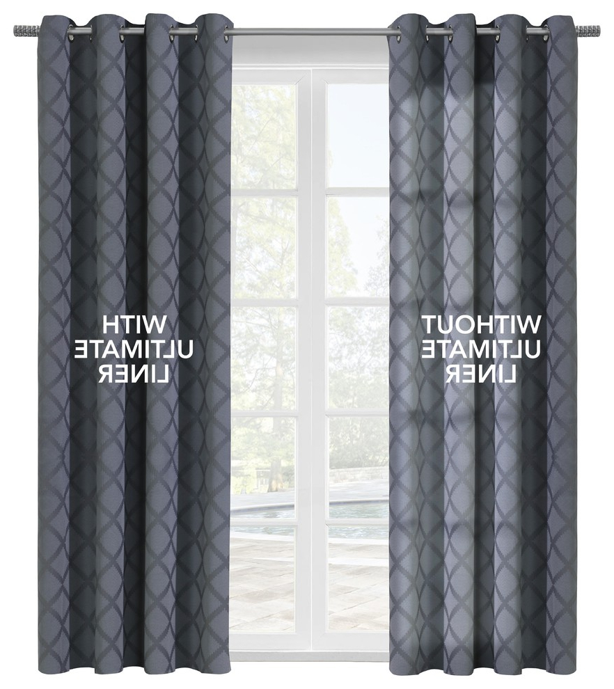 "Well Known Thermalogic ""ultimate Liner"" Blackout Liner, 45""x101"" Regarding Tacoma Double Blackout Grommet Curtain Panels (View 16 of 20)"