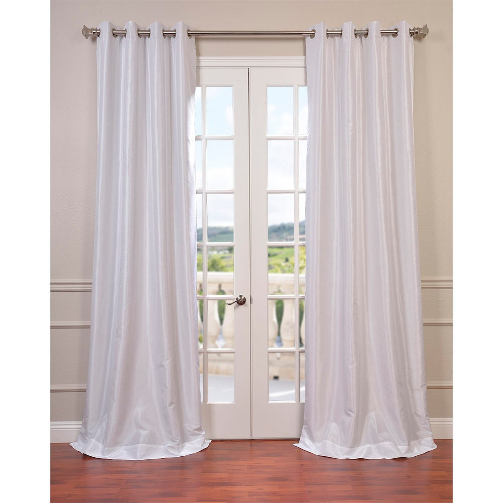 """Well Known True Blackout Vintage Textured Faux Silk Curtain Panels In Exclusive Fabrics Textured Dupioni Faux Silk 96 Inch Blackout Grommet Curtain Panel 96""""l In Flax Gold (As Is Item) (View 18 of 20)"""