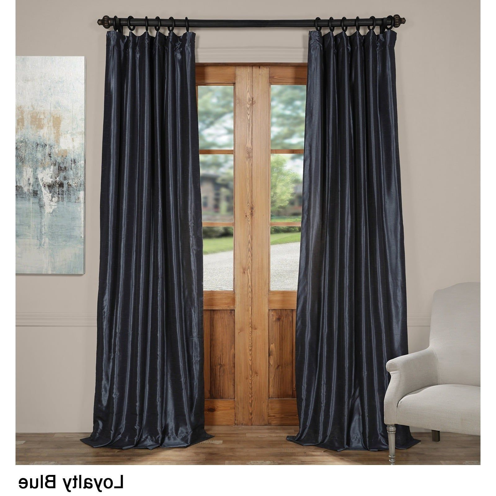 Well Known True Blackout Vintage Textured Faux Silk Curtain Panels With Regard To Exclusive Fabrics Vintage Textured Faux Dupioni Silk Curtain (View 19 of 20)